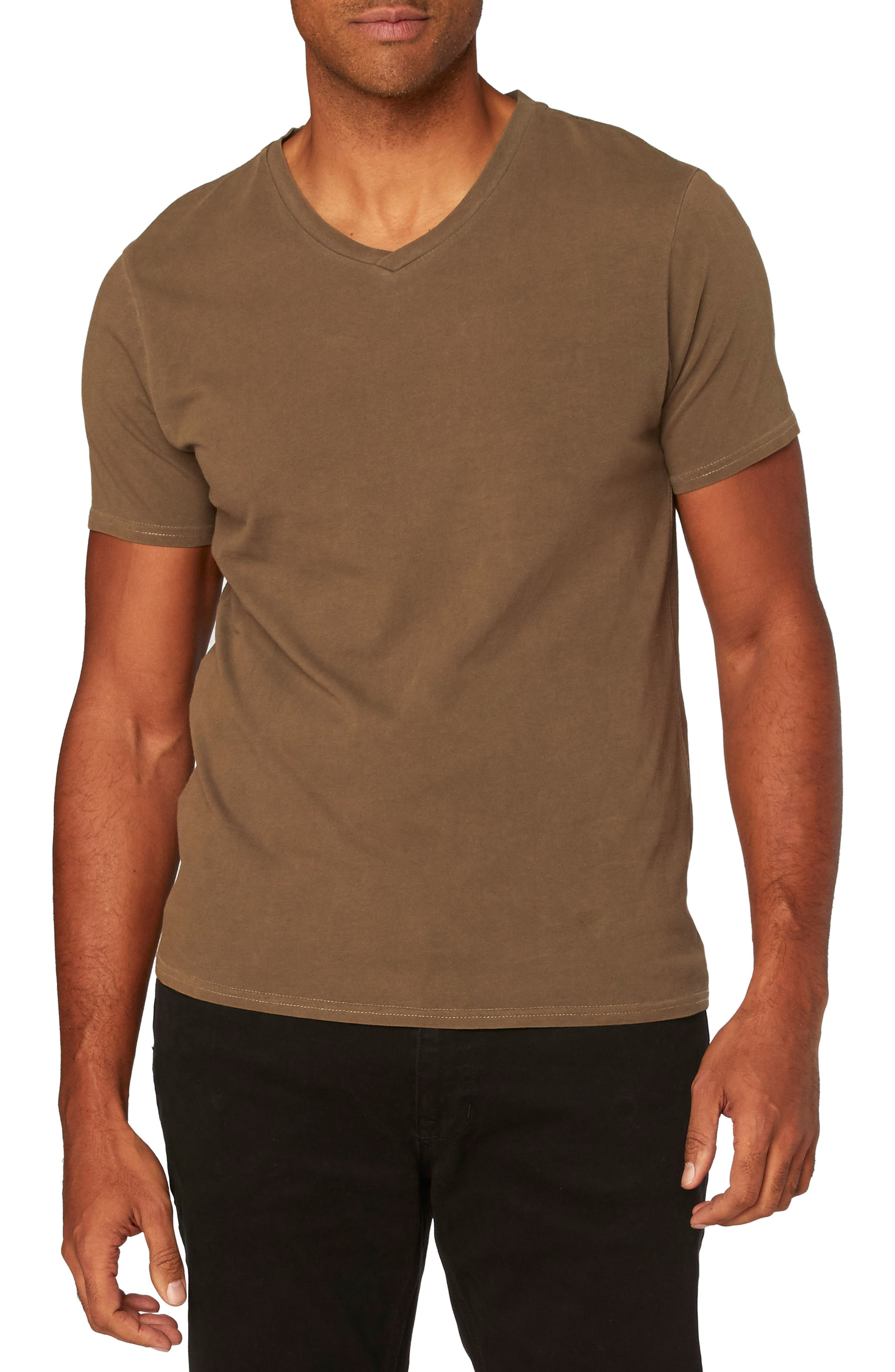 Standard V-Neck T-Shirt,                             Main thumbnail 1, color,                             Beech
