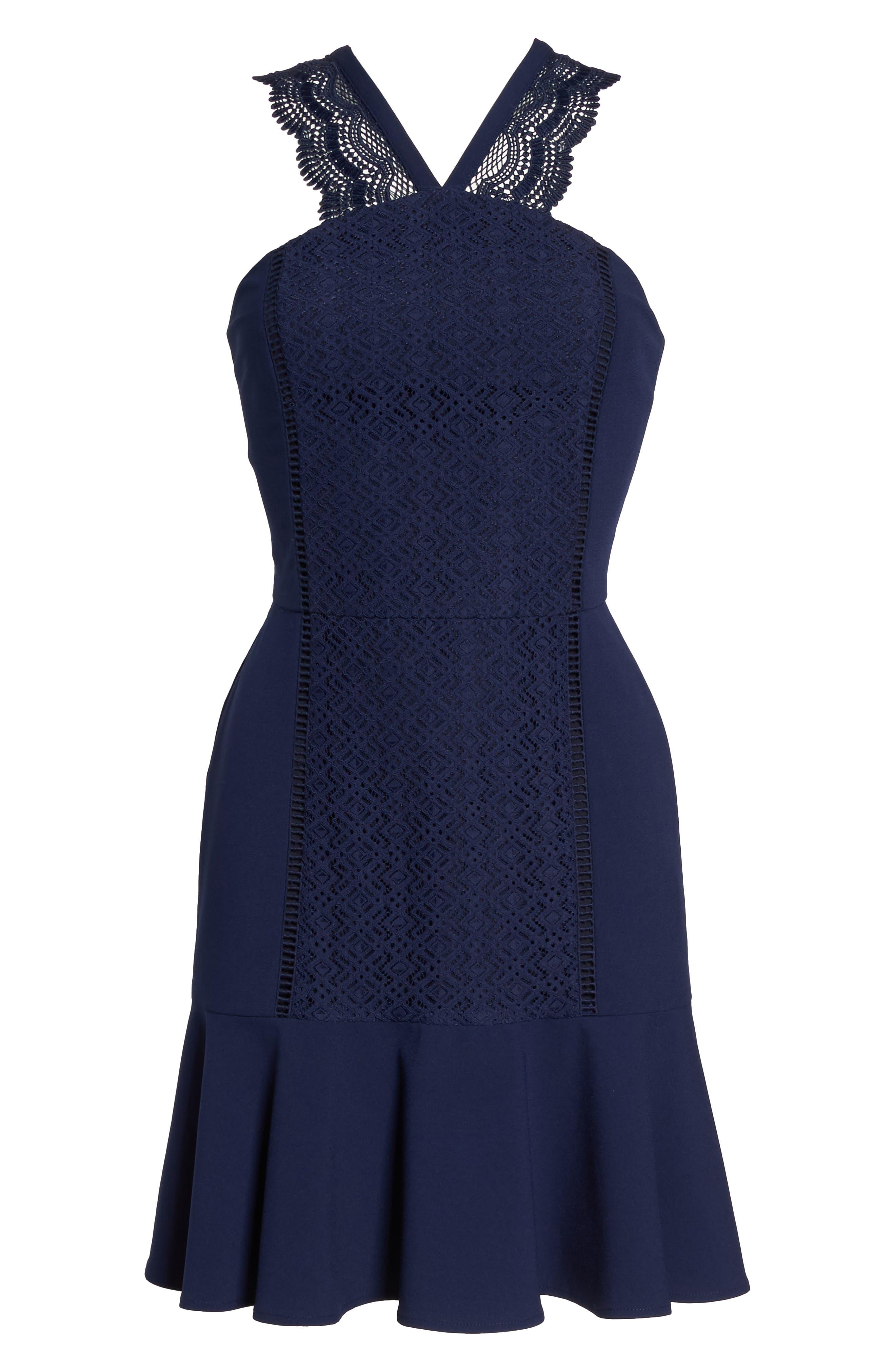 Alternate Image 6  - Greylin Mila Lace Fit & Flare Dress