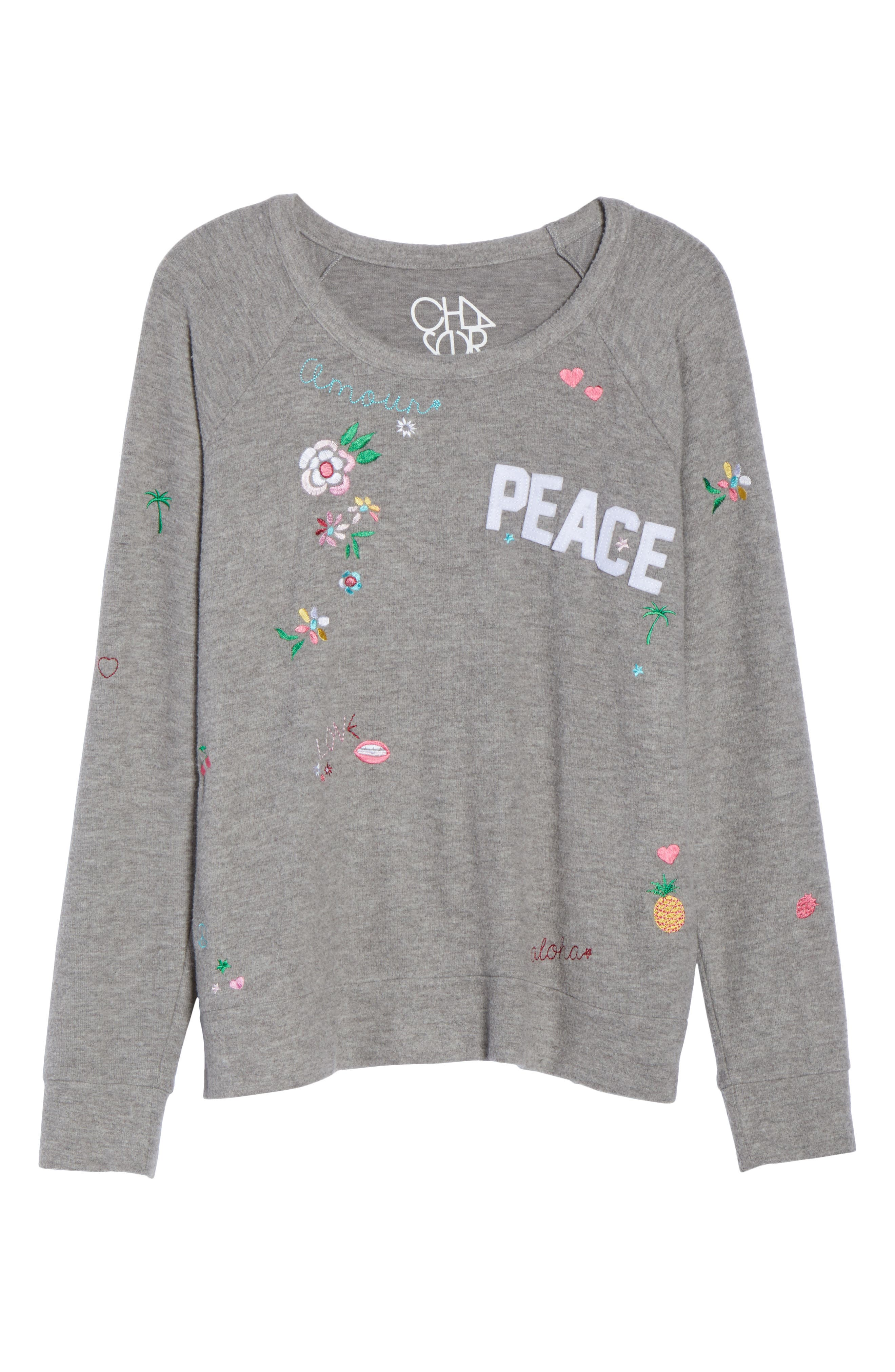 Patched Up Sweatshirt,                             Alternate thumbnail 7, color,                             Heather Grey