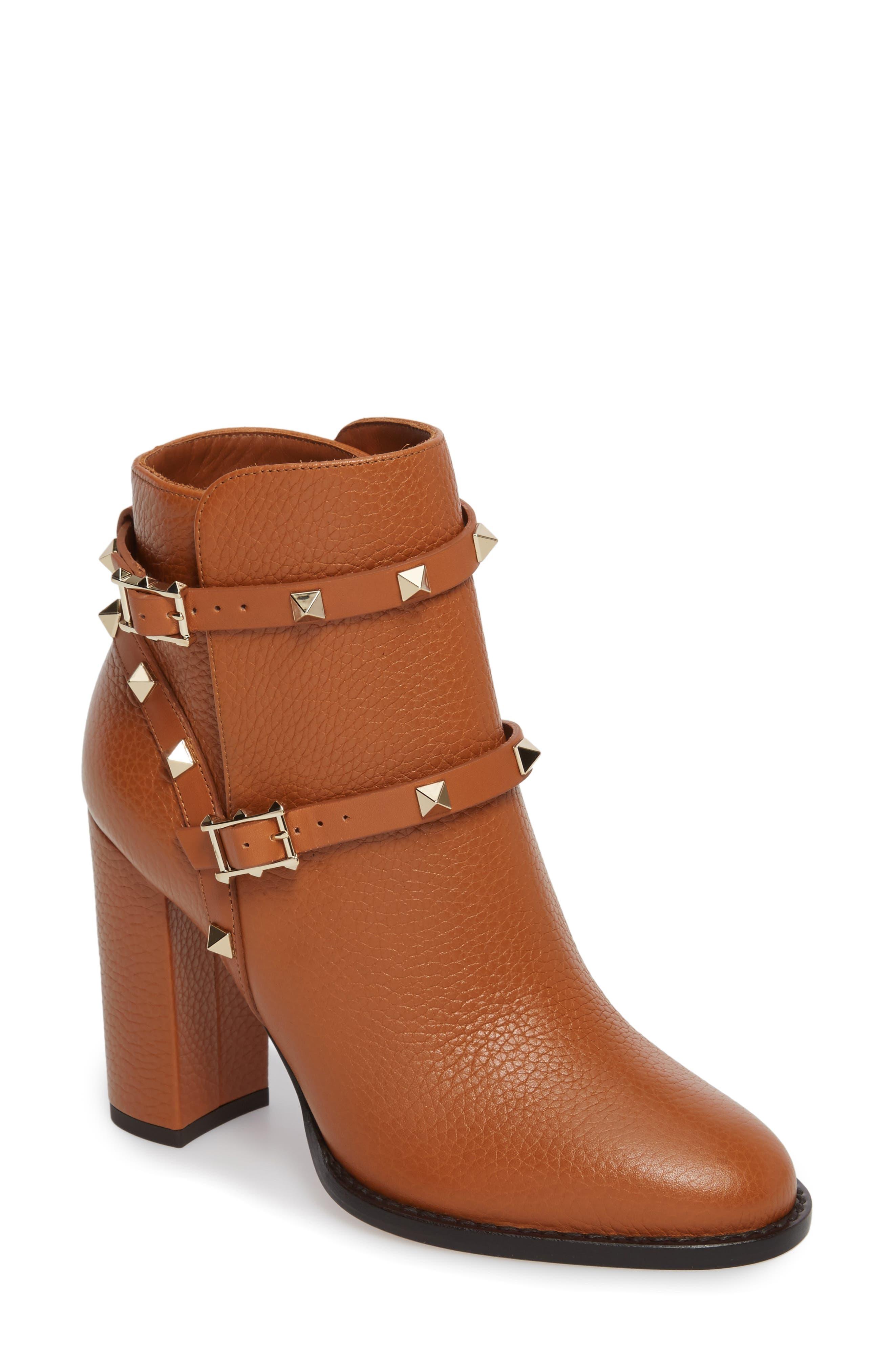 VALENTINO GARAVANI 'Rockstud' Block Heel Bootie (Women)
