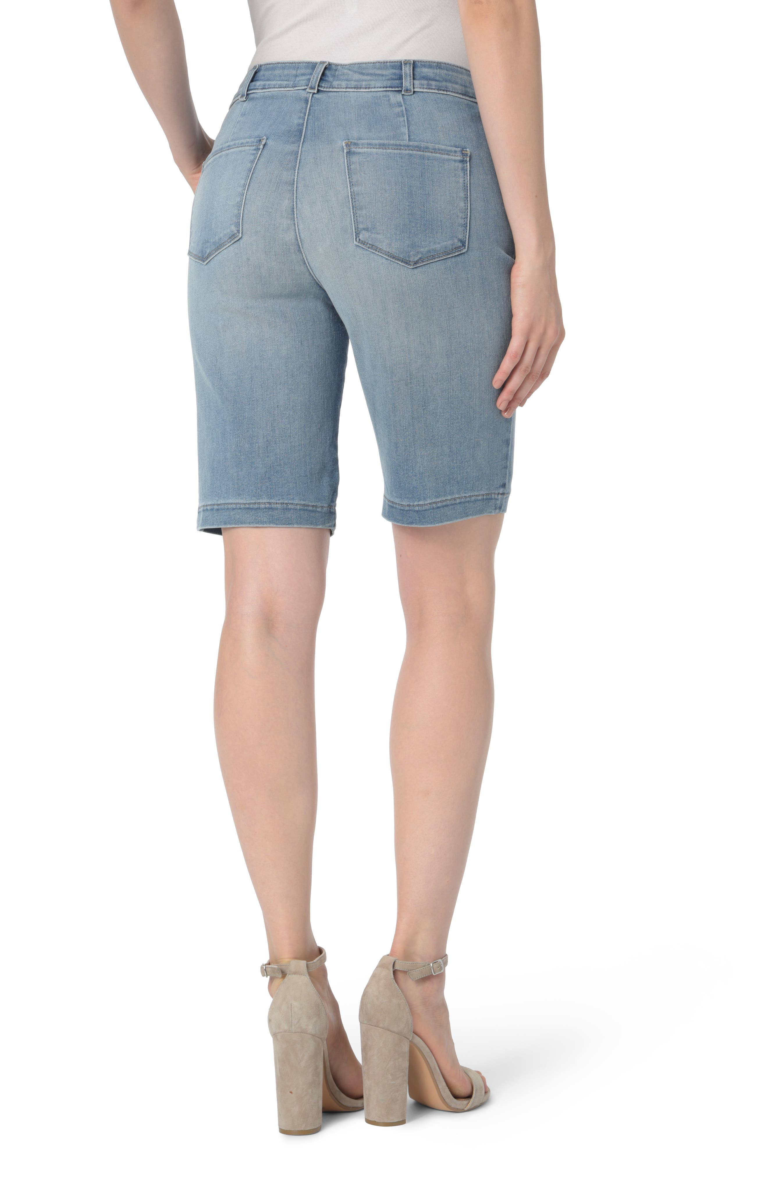 Alternate Image 2  - NYDJ Marilyn Stretch Denim Bermuda Shorts