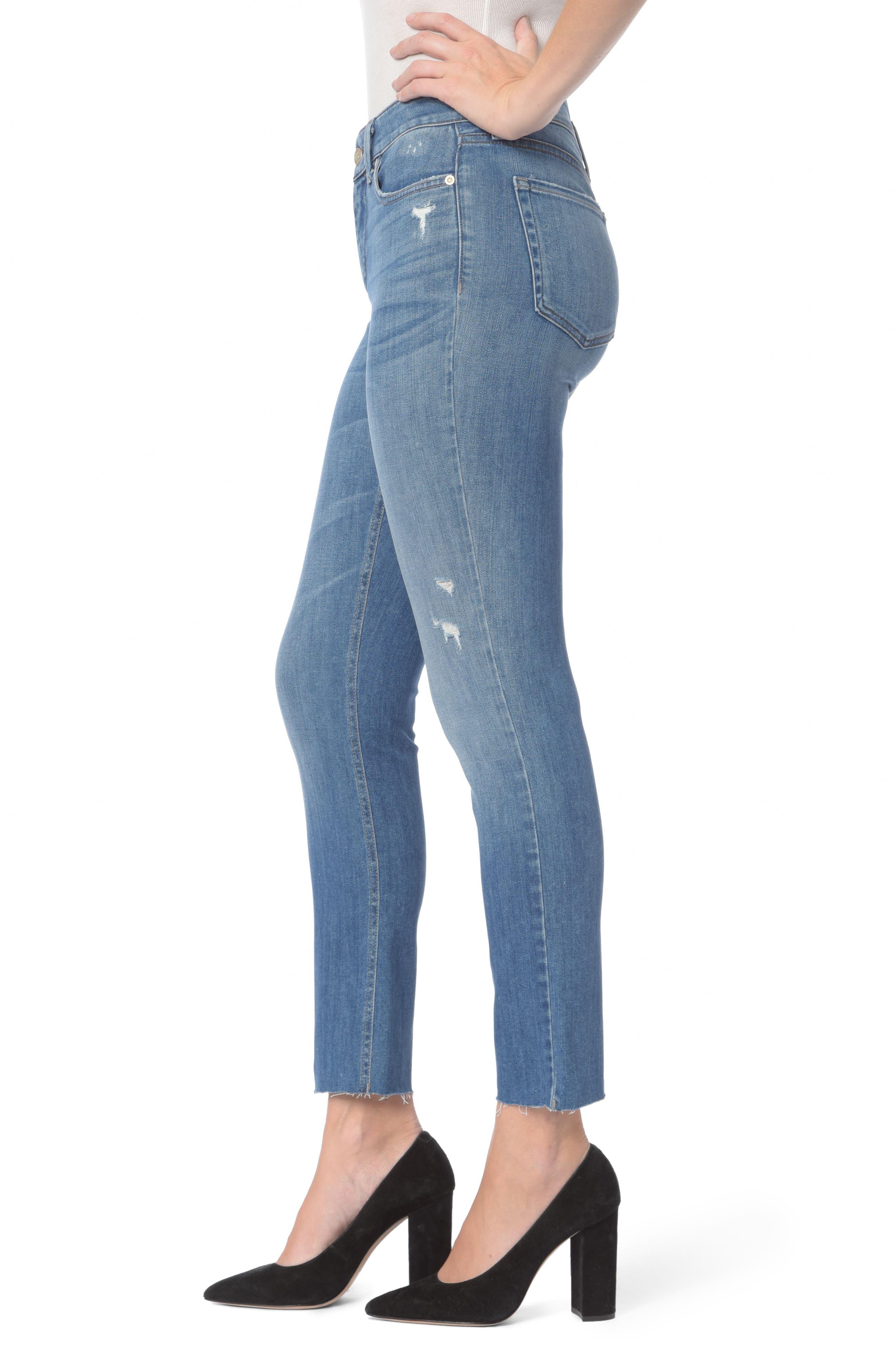 Alternate Image 3  - NYDJ Sheri Ripped Slim Stretch Ankle Jeans (Burton)