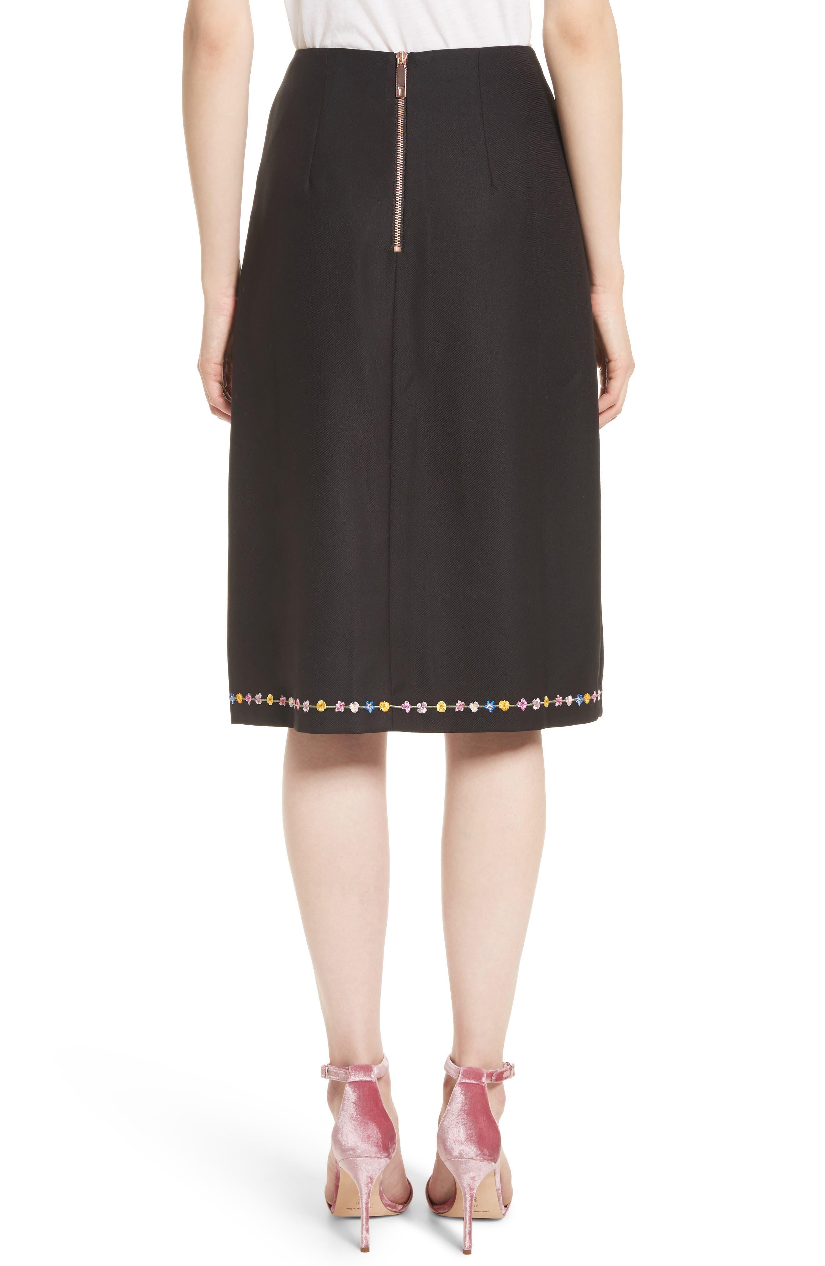 Alternate Image 2  - Ted Baker London Hampton Print A-Line Skirt