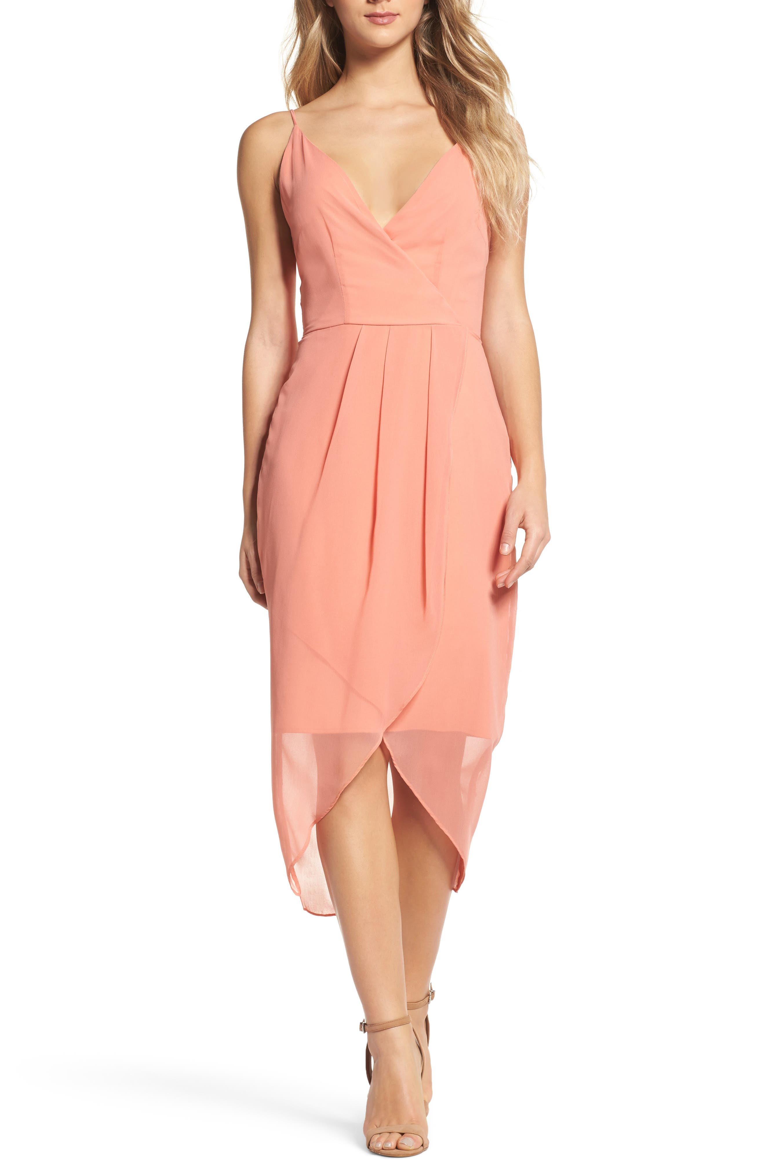 Flame of the Forest Midi Dress,                         Main,                         color, Desert Sand