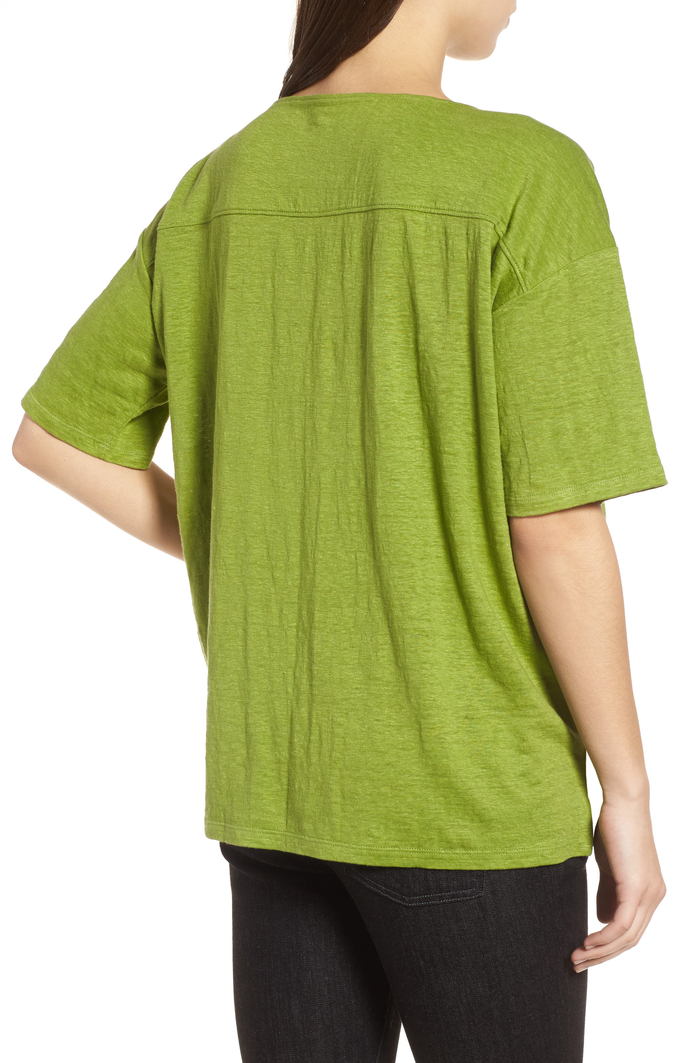 Alternate Image 2  - Eileen Fisher Slouchy Organic Linen Top