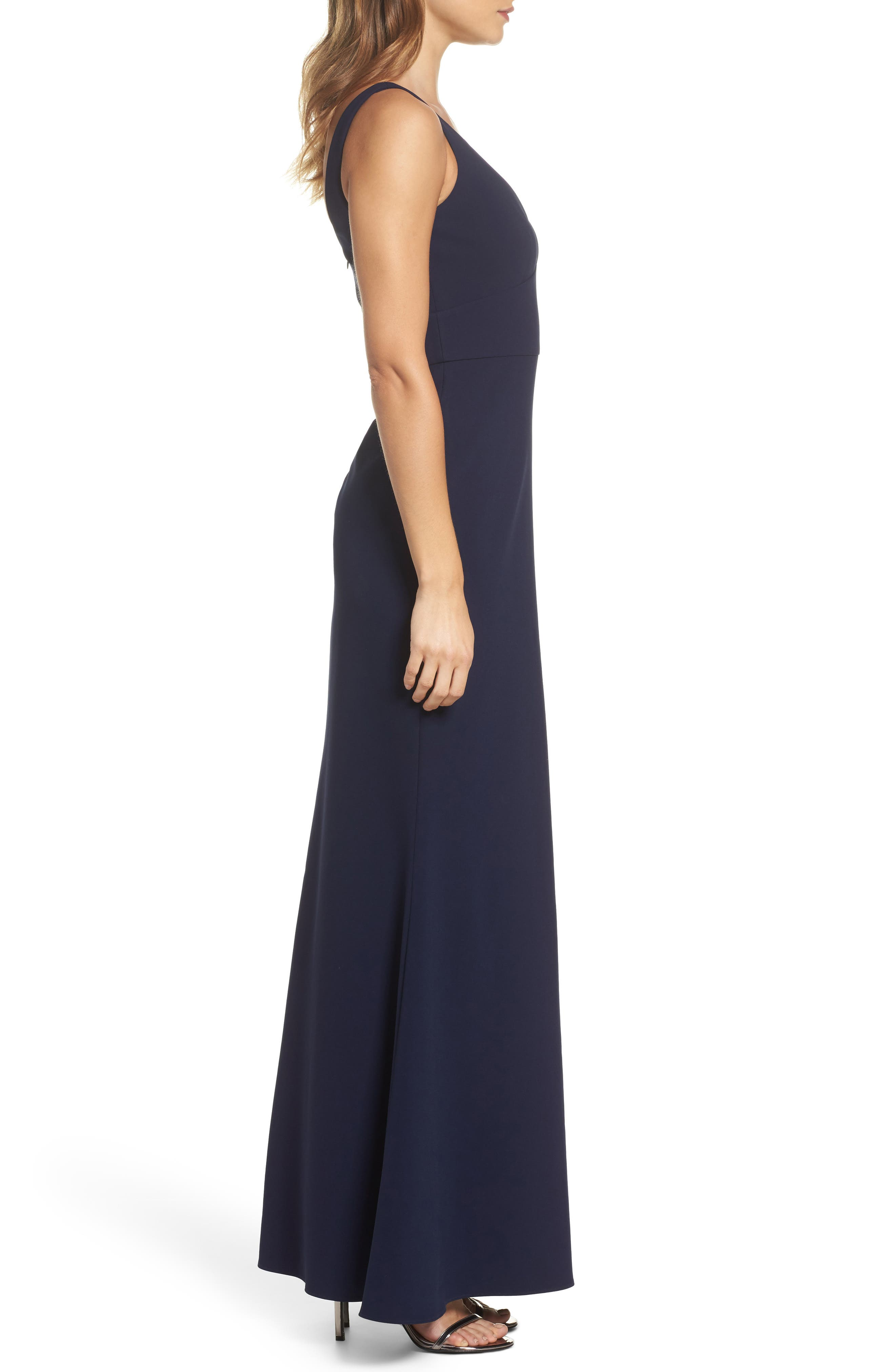 Gown,                             Alternate thumbnail 3, color,                             Midnight Blue