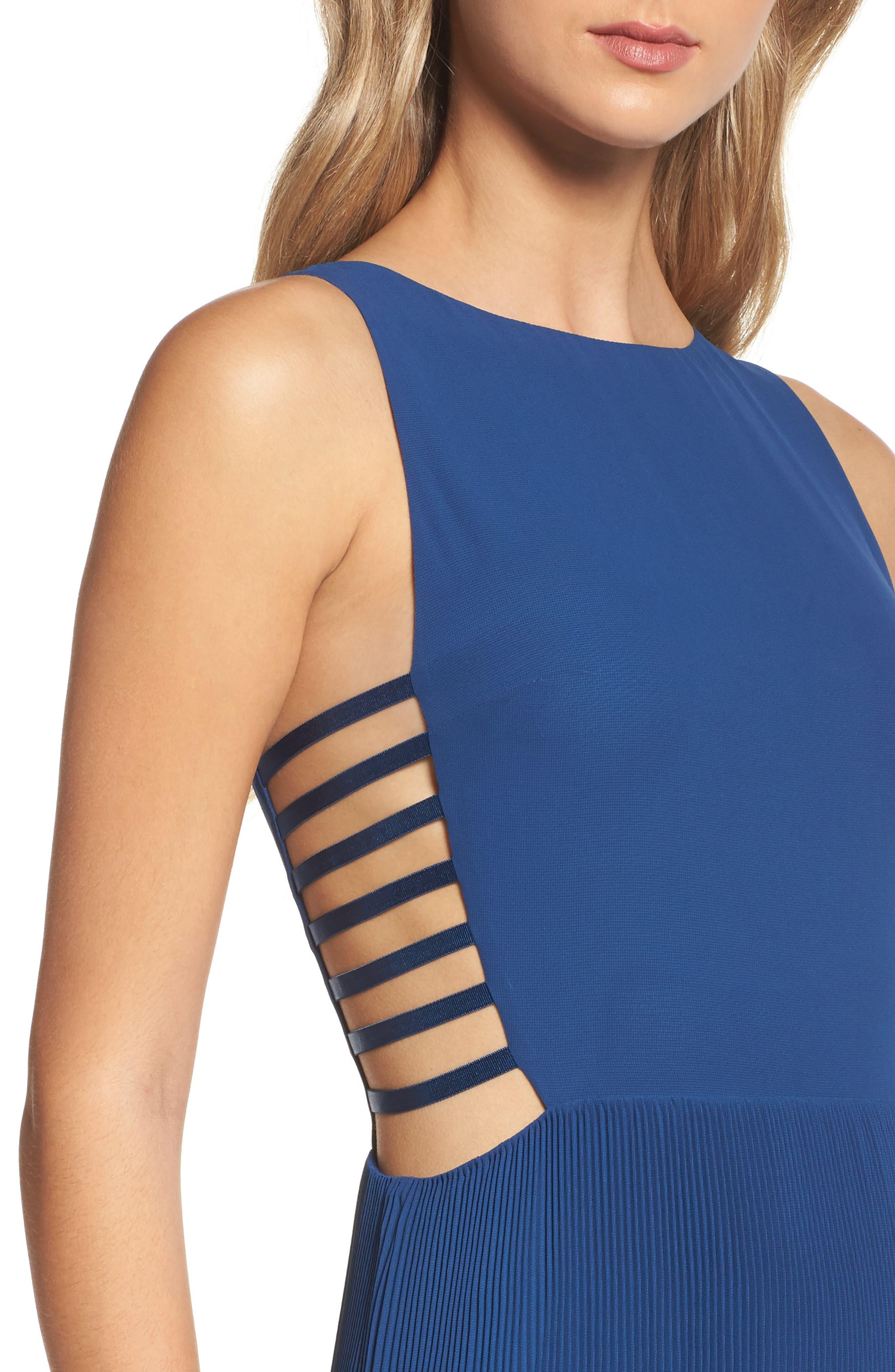 Sunset Blvd Maxi Dress,                             Alternate thumbnail 5, color,                             French Blue