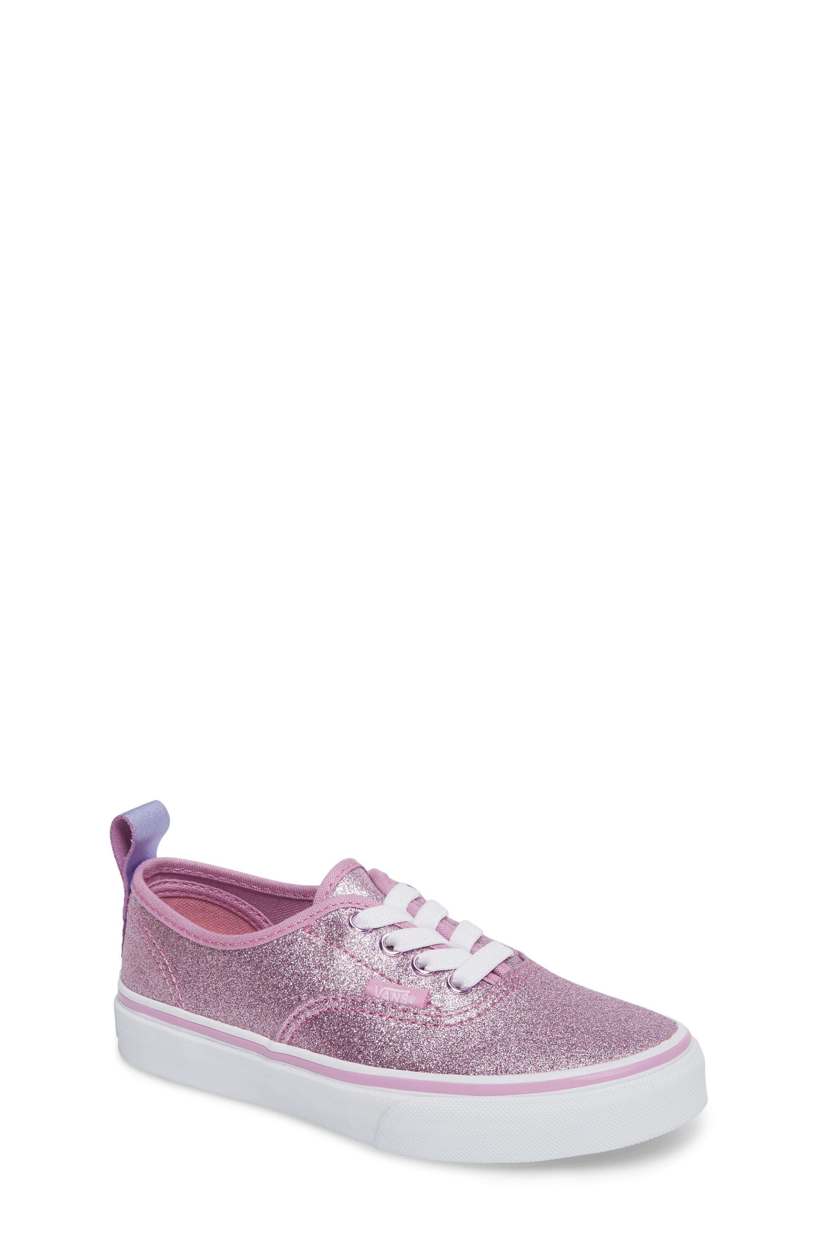 Main Image - Vans Glitter Authentic Elastic Lace Sneaker (Baby, Walker, Toddler, Little Kid & Big Kid)