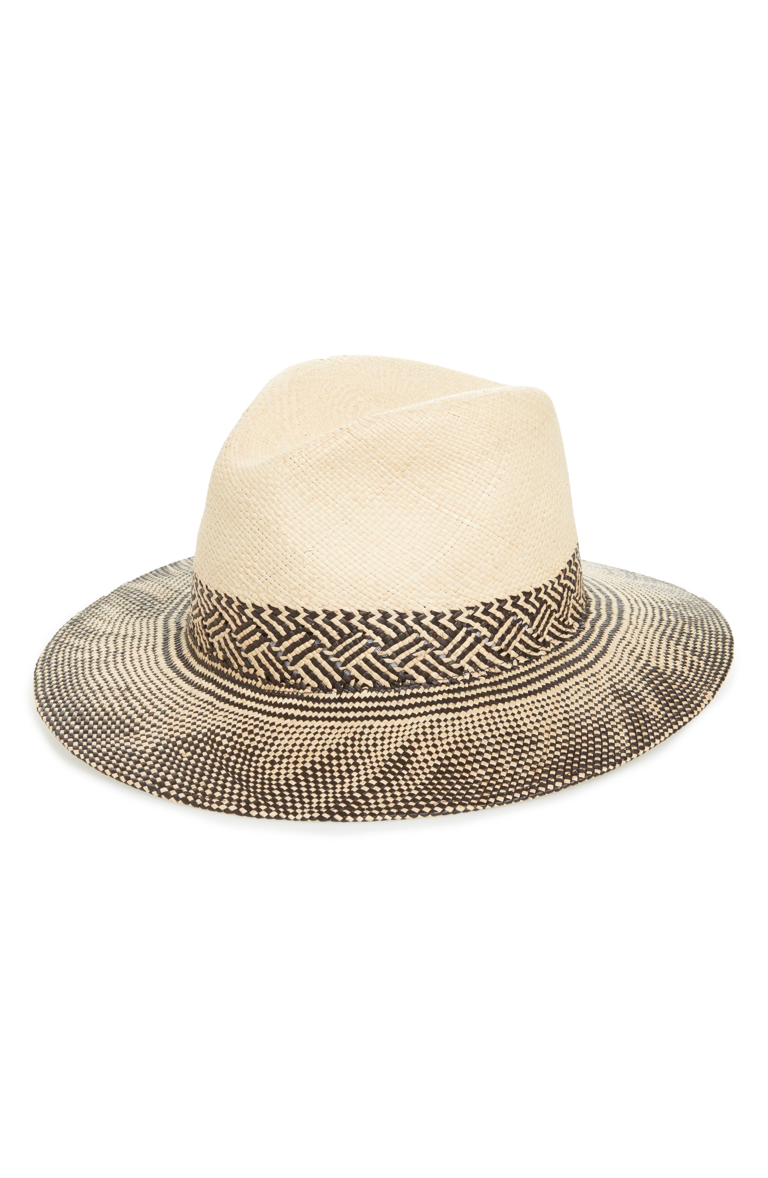 Straw Panama Hat,                         Main,                         color, Natural Multi