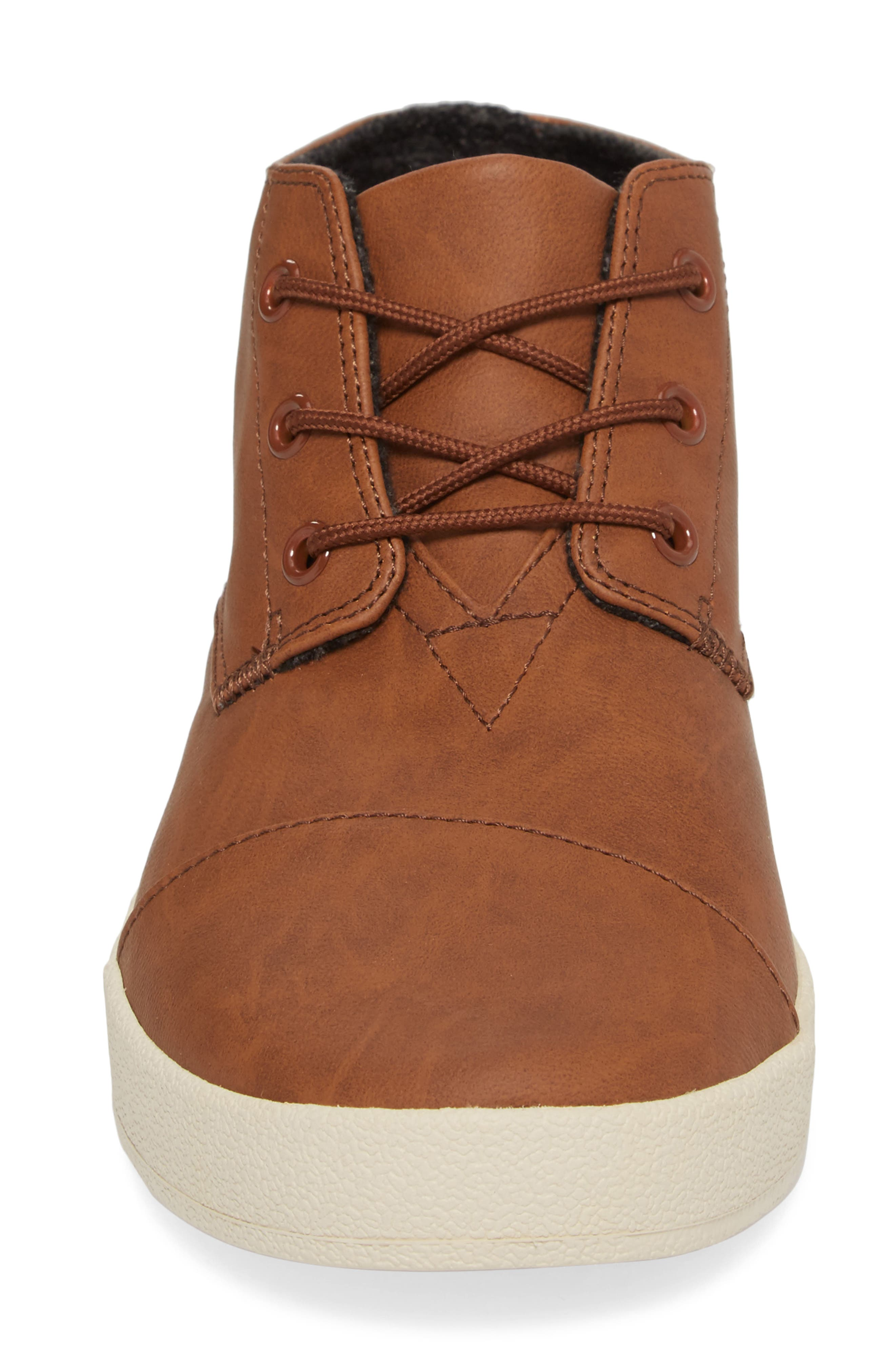 Paseo Mid Sneaker,                             Alternate thumbnail 4, color,                             Dark Earth Brown