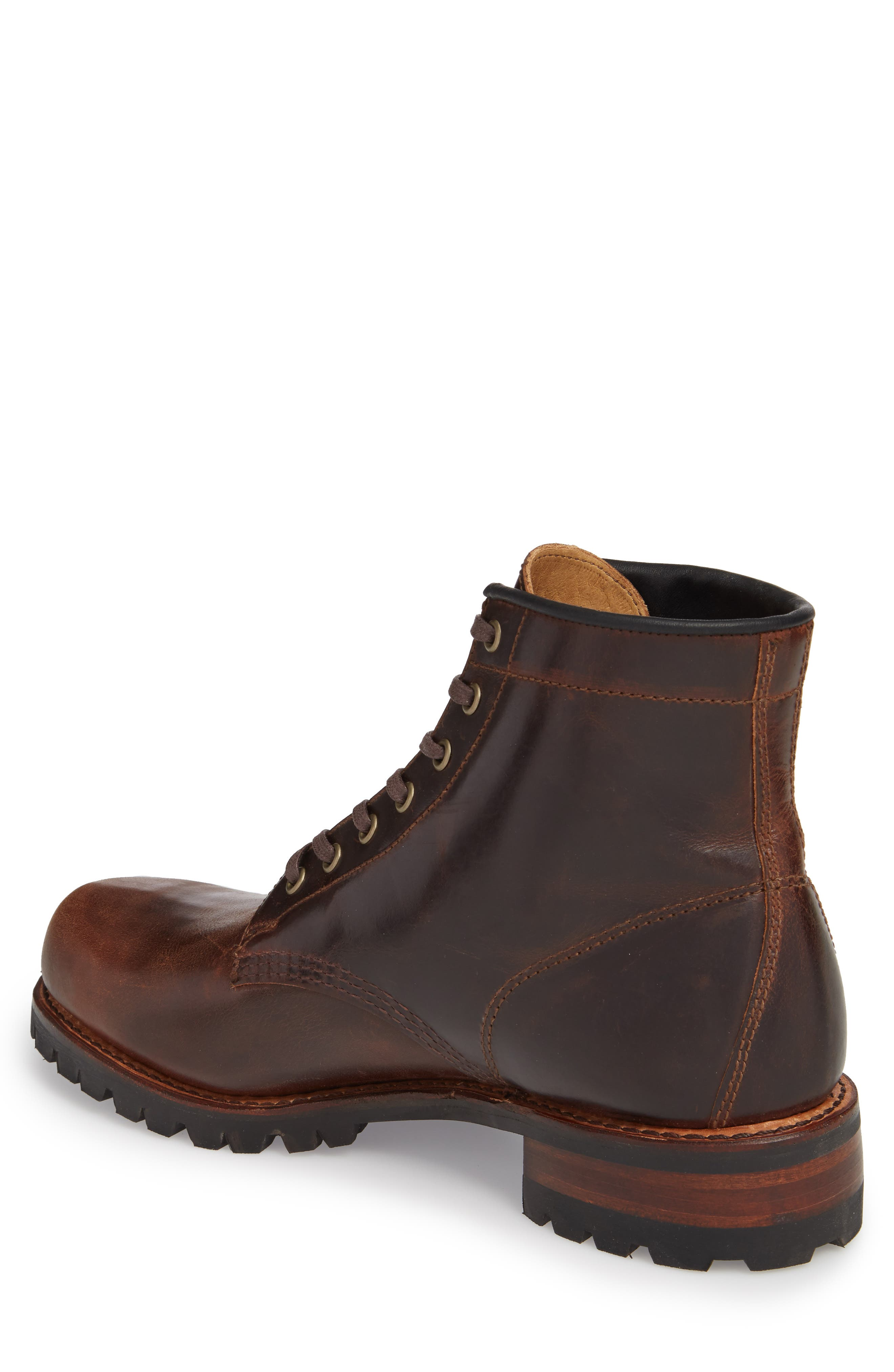 Addison Lace-Up Boot,                             Alternate thumbnail 2, color,                             Dark Brown Leather