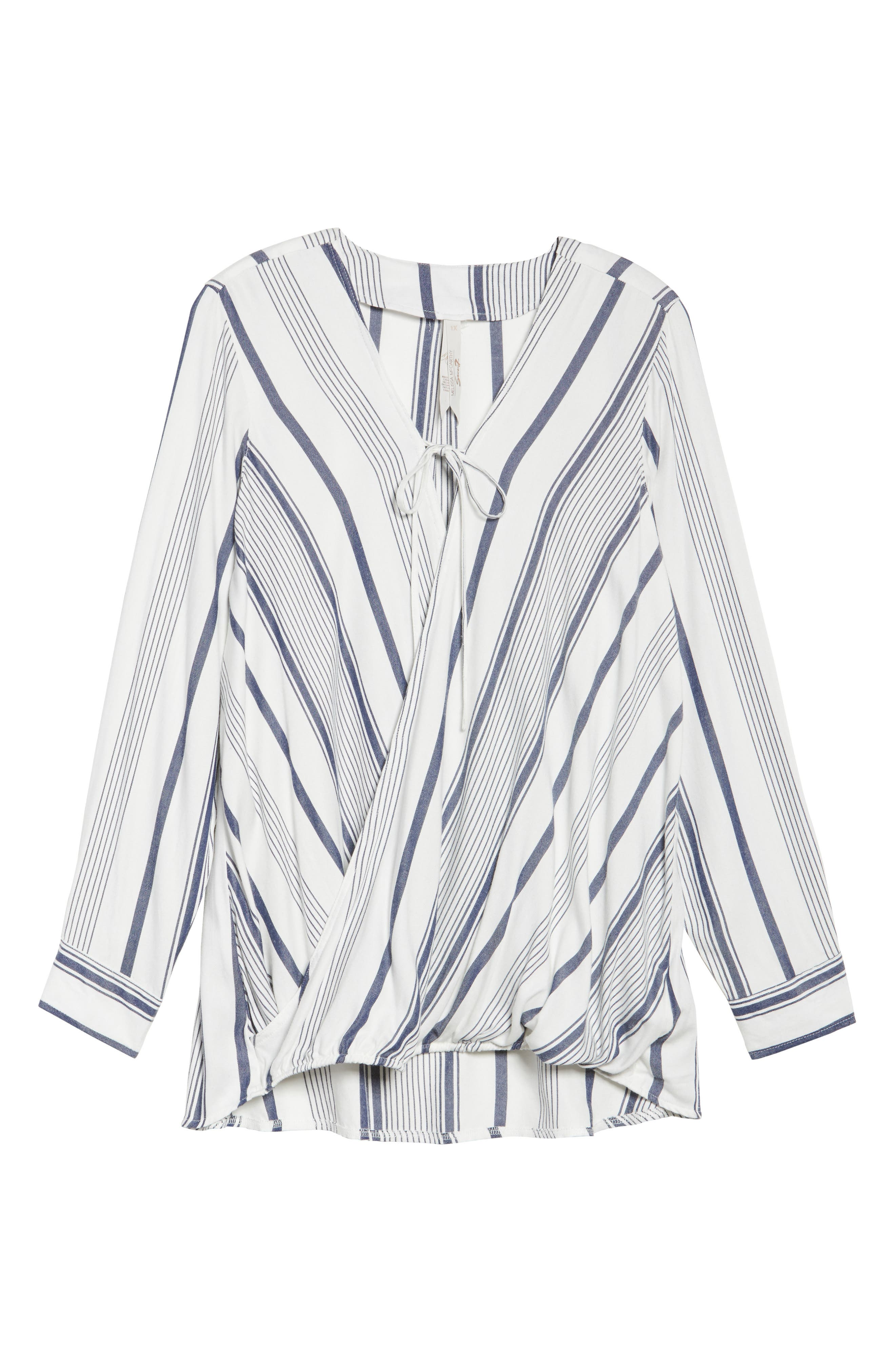 Alternate Image 6  - Melissa McCarthy Seven7 Stripe Surplice Top (Plus Size)
