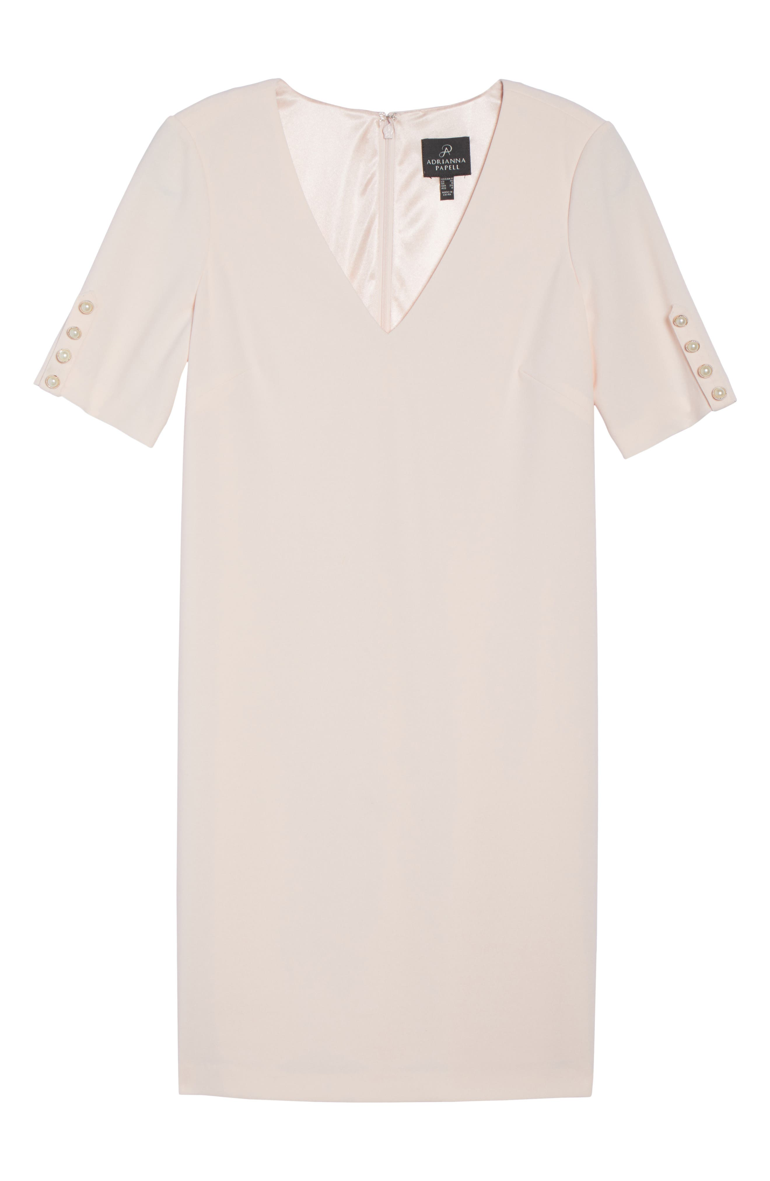 Alternate Image 6  - Adrianna Papell Button Sleeve Shift Dress