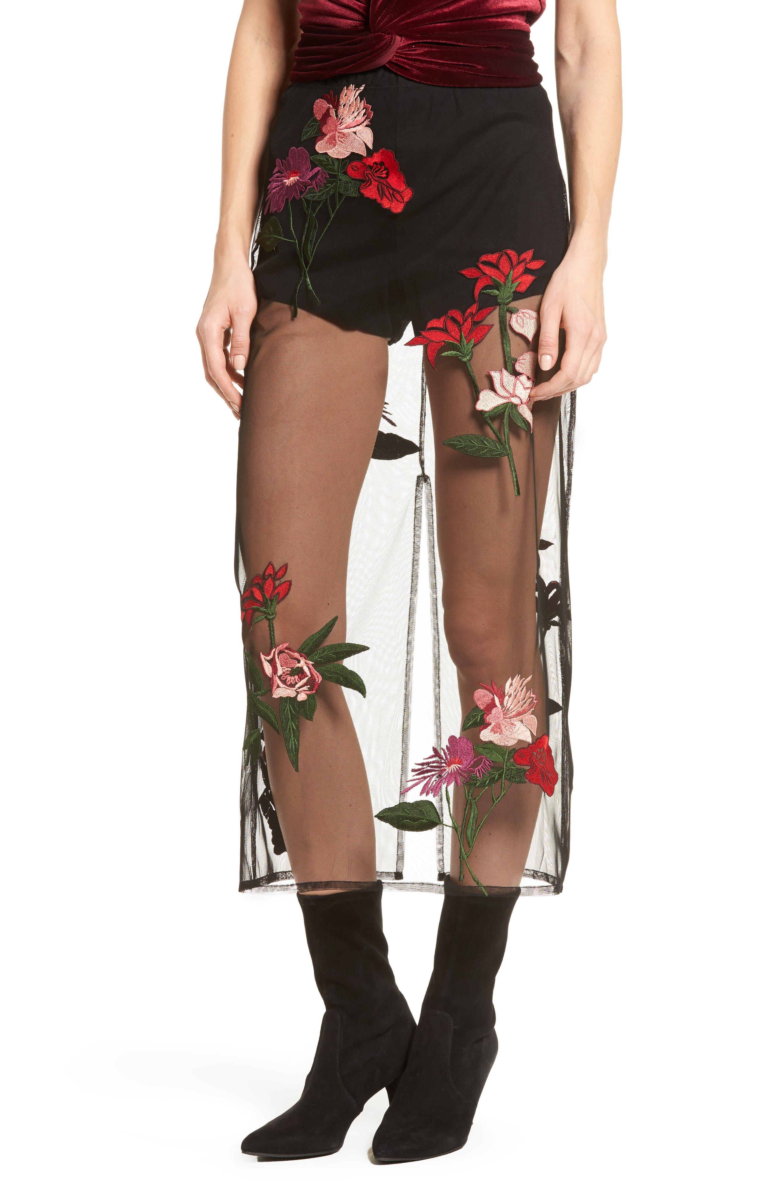 Farrow Midi Skirt,                         Main,                         color, Black