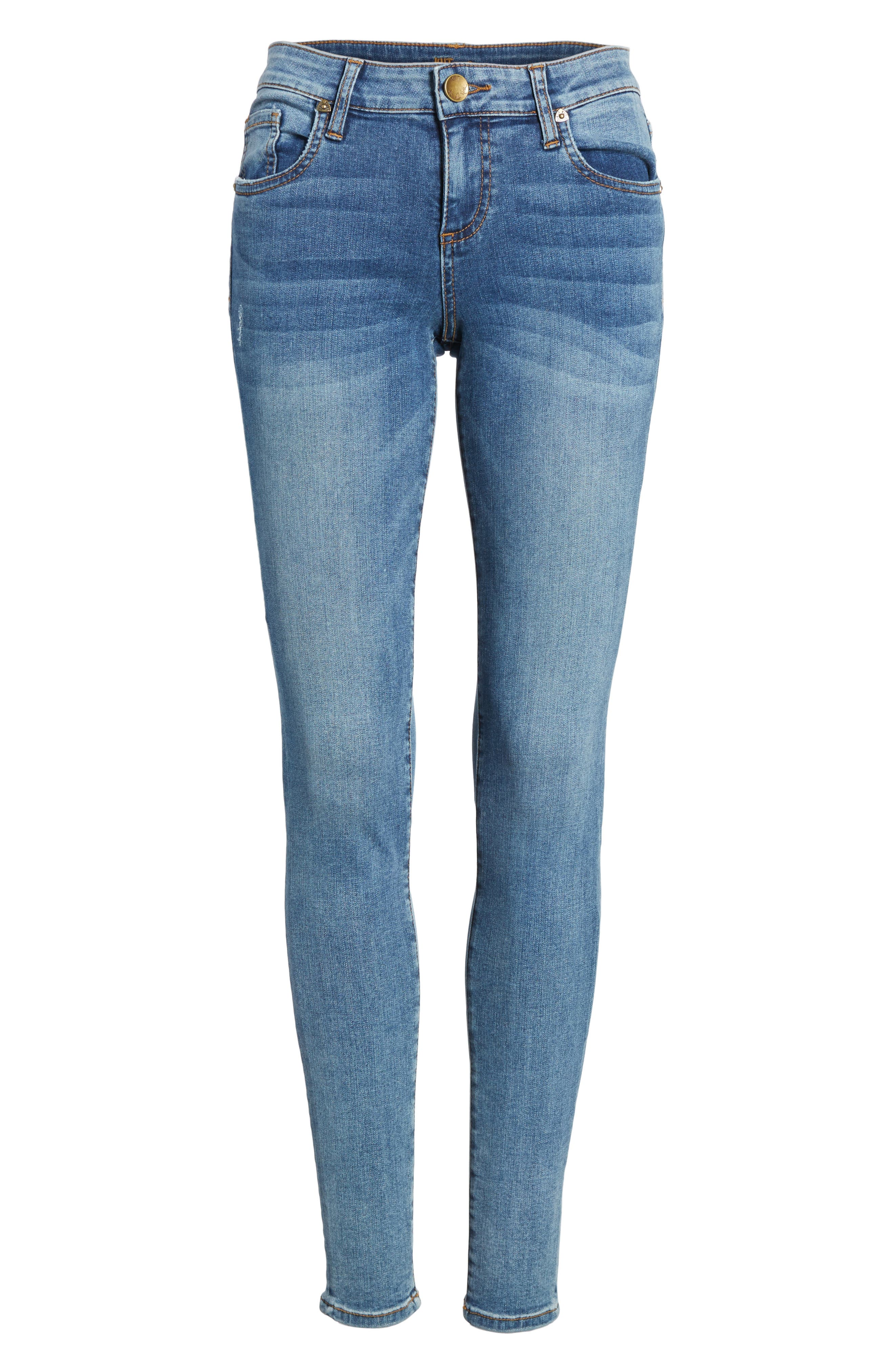 Alternate Image 7  - KUT from the Kloth Donna Skinny Jeans (Venturesome)