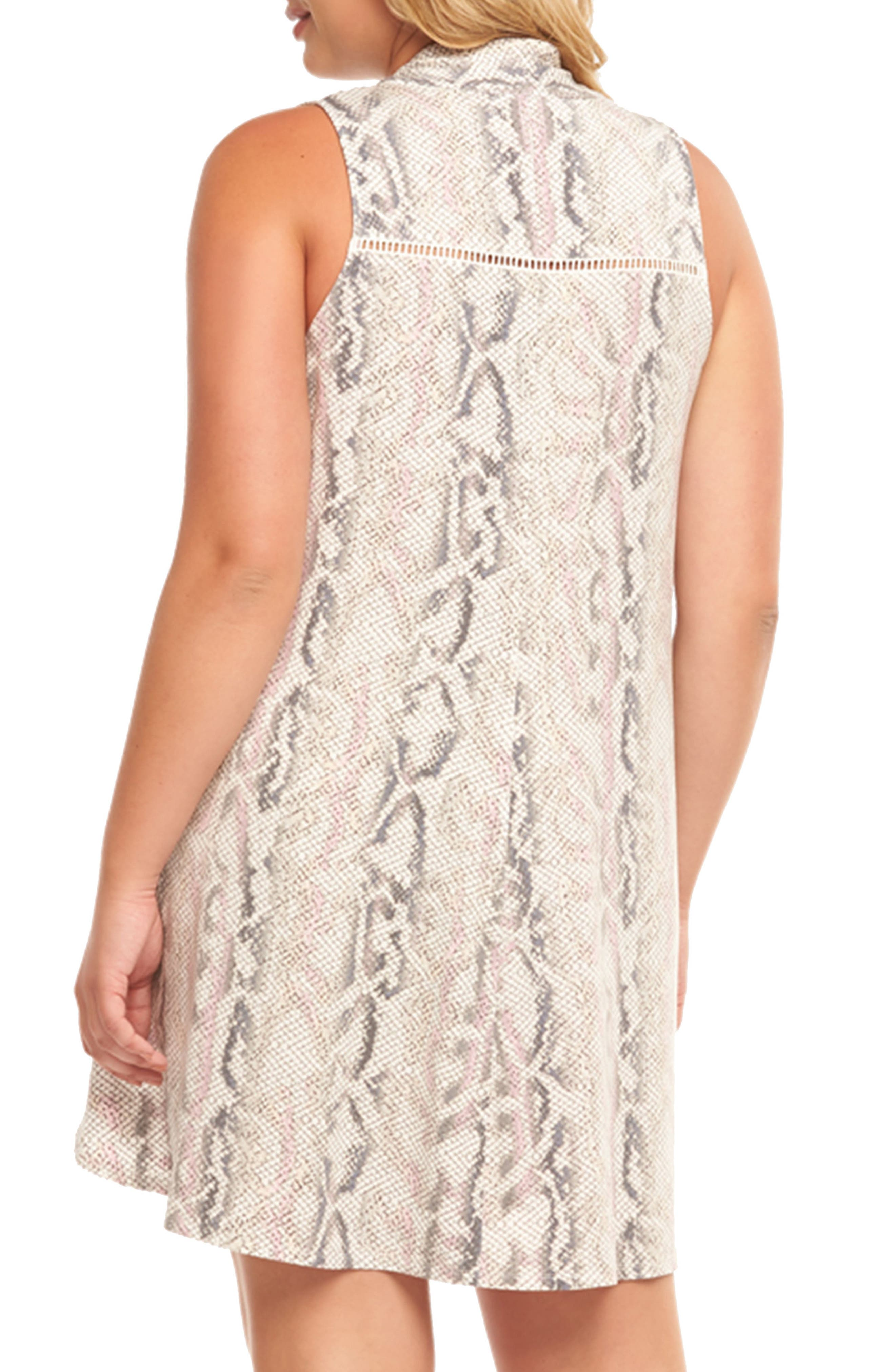 Alternate Image 2  - Tart Addilyn Print Minidress (Plus Size)