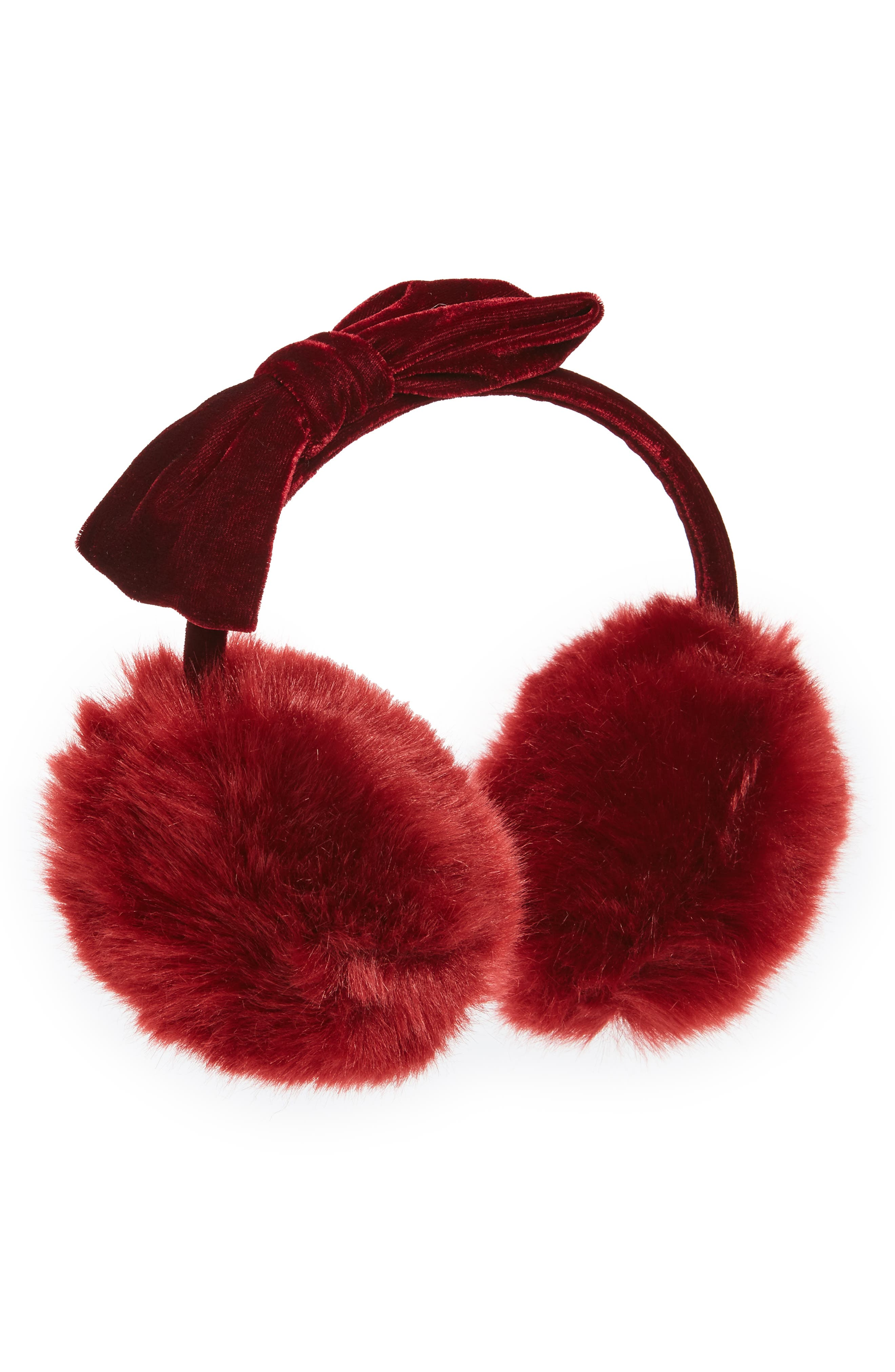 Tucker + Tate Velvet Bow Earmuffs (Girls)