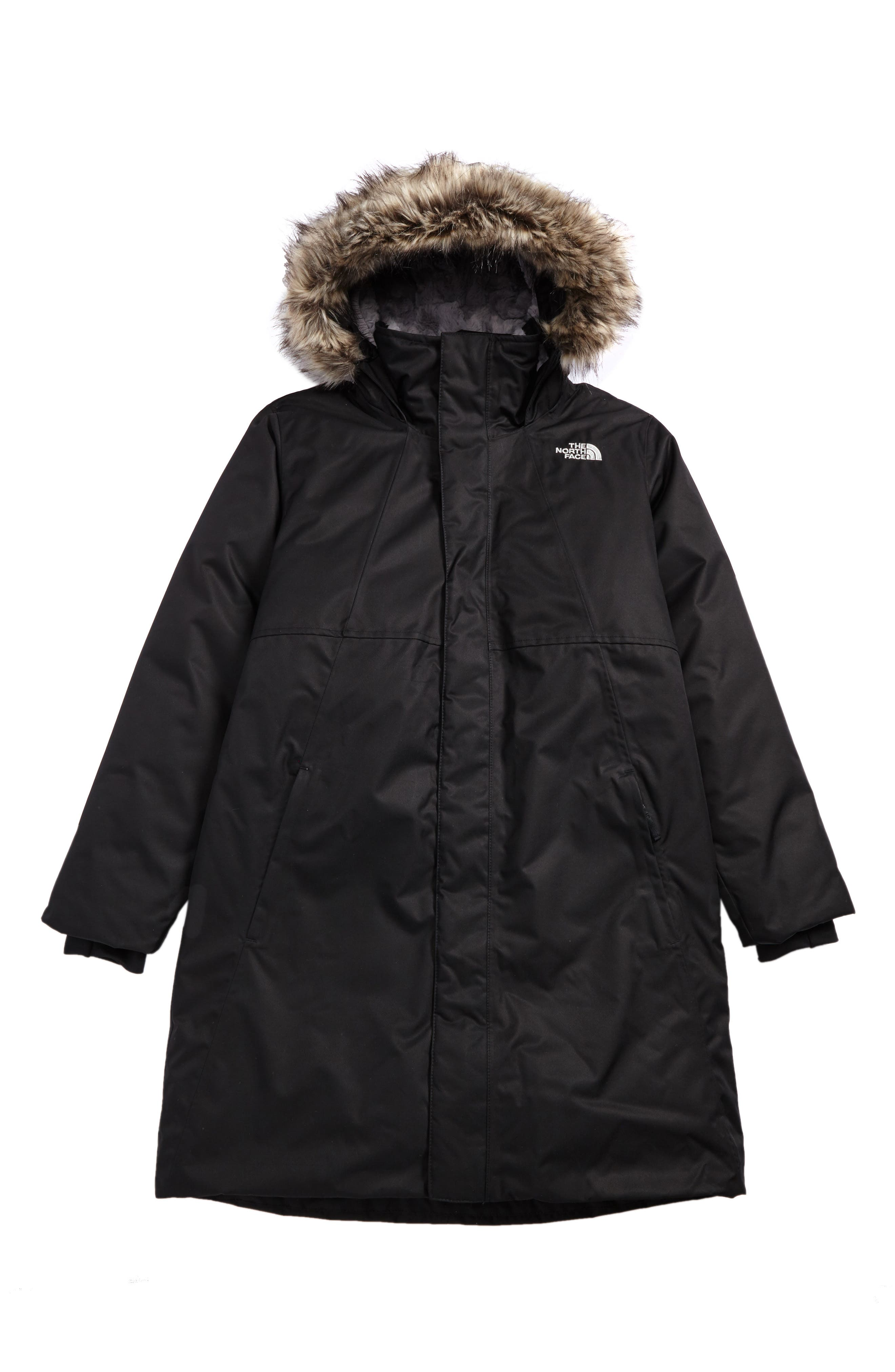 Alternate Image 1 Selected - The North Face Arctic Swirl Waterproof Down Parka (Little Girls & Big Girls)