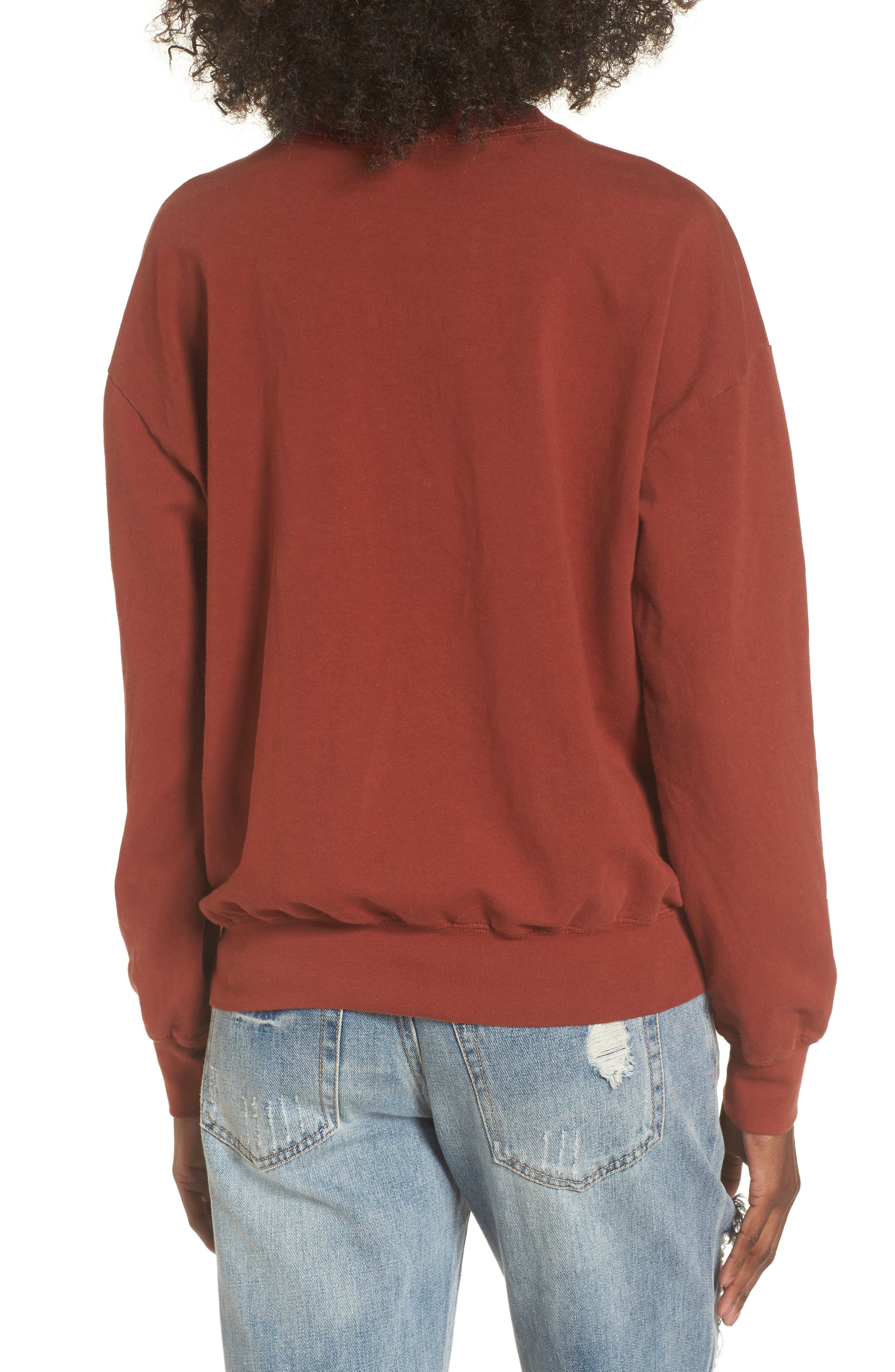 Infinity Knot Sweatshirt,                             Alternate thumbnail 2, color,                             Marsala