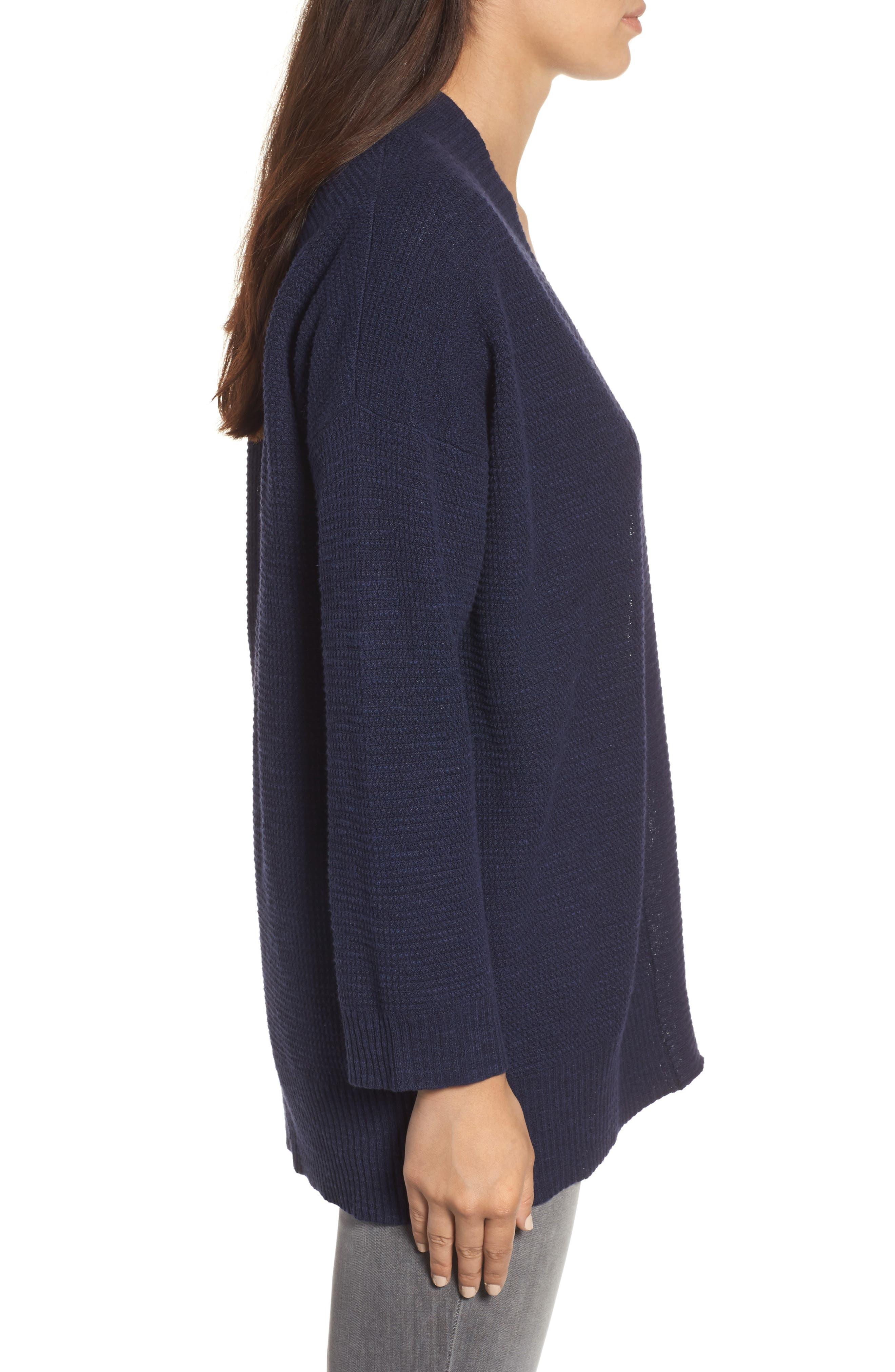 Alternate Image 3  - Eileen Fisher Oragnic Linen & Cotton Cardigan