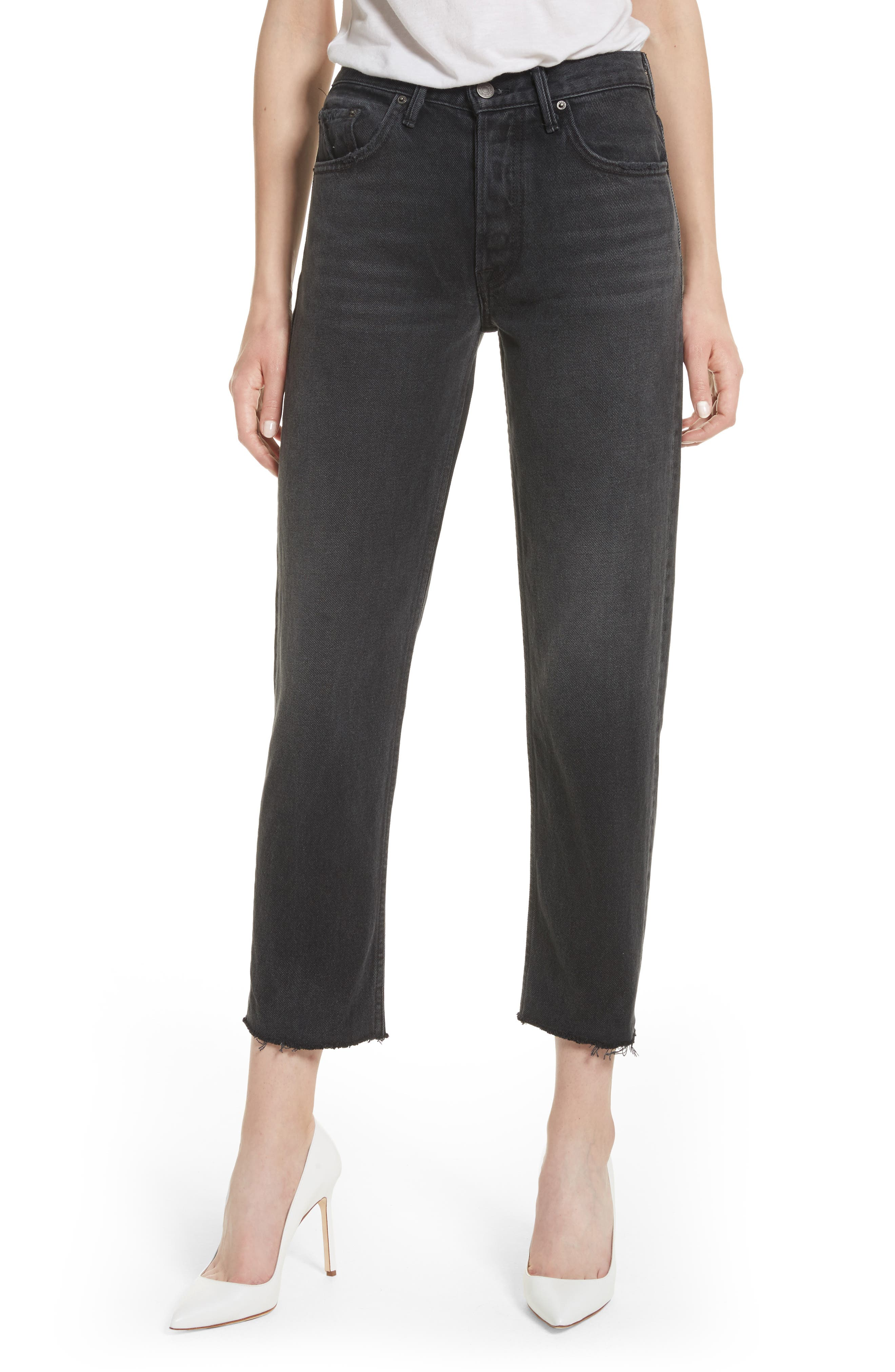 Alternate Image 1 Selected - GRLFRND Helena Rigid High Waist Straight Jeans (Proud Mary)
