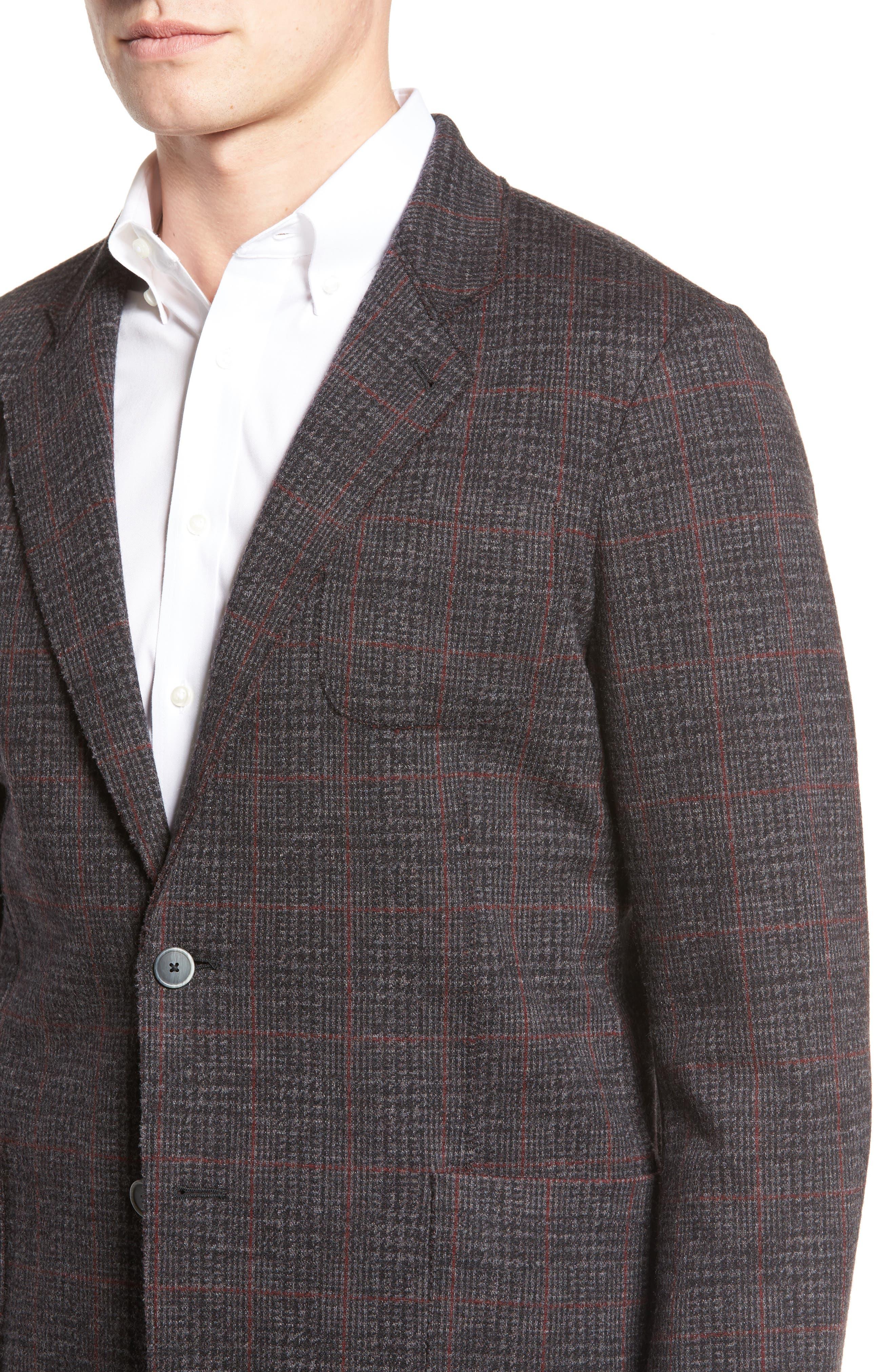 Alternate Image 4  - Bugatchi Plaid Wool Blazer