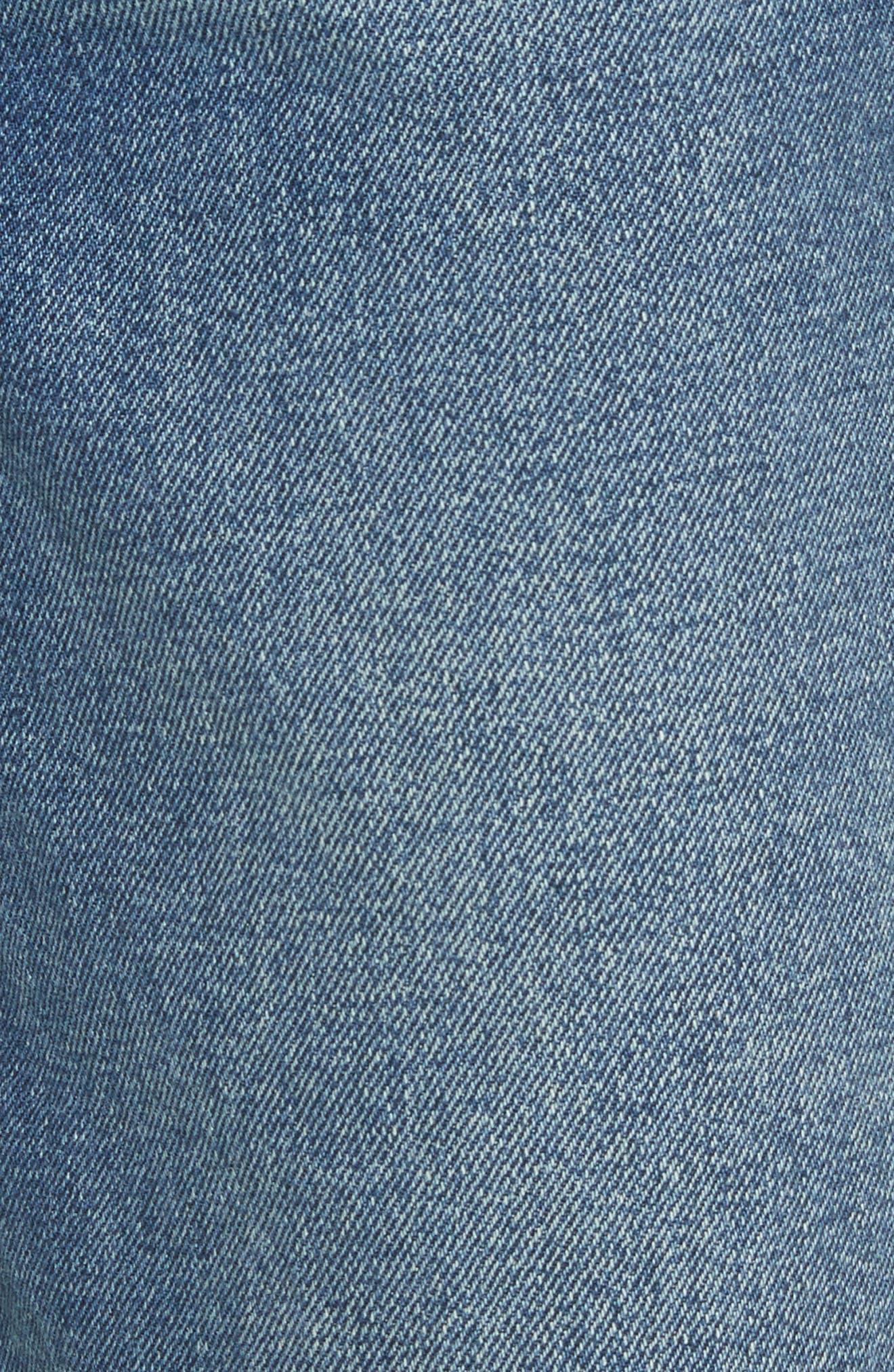 Alternate Image 5  - GRLFRND Helena Rigid High Waist Straight Jeans (Close To You)