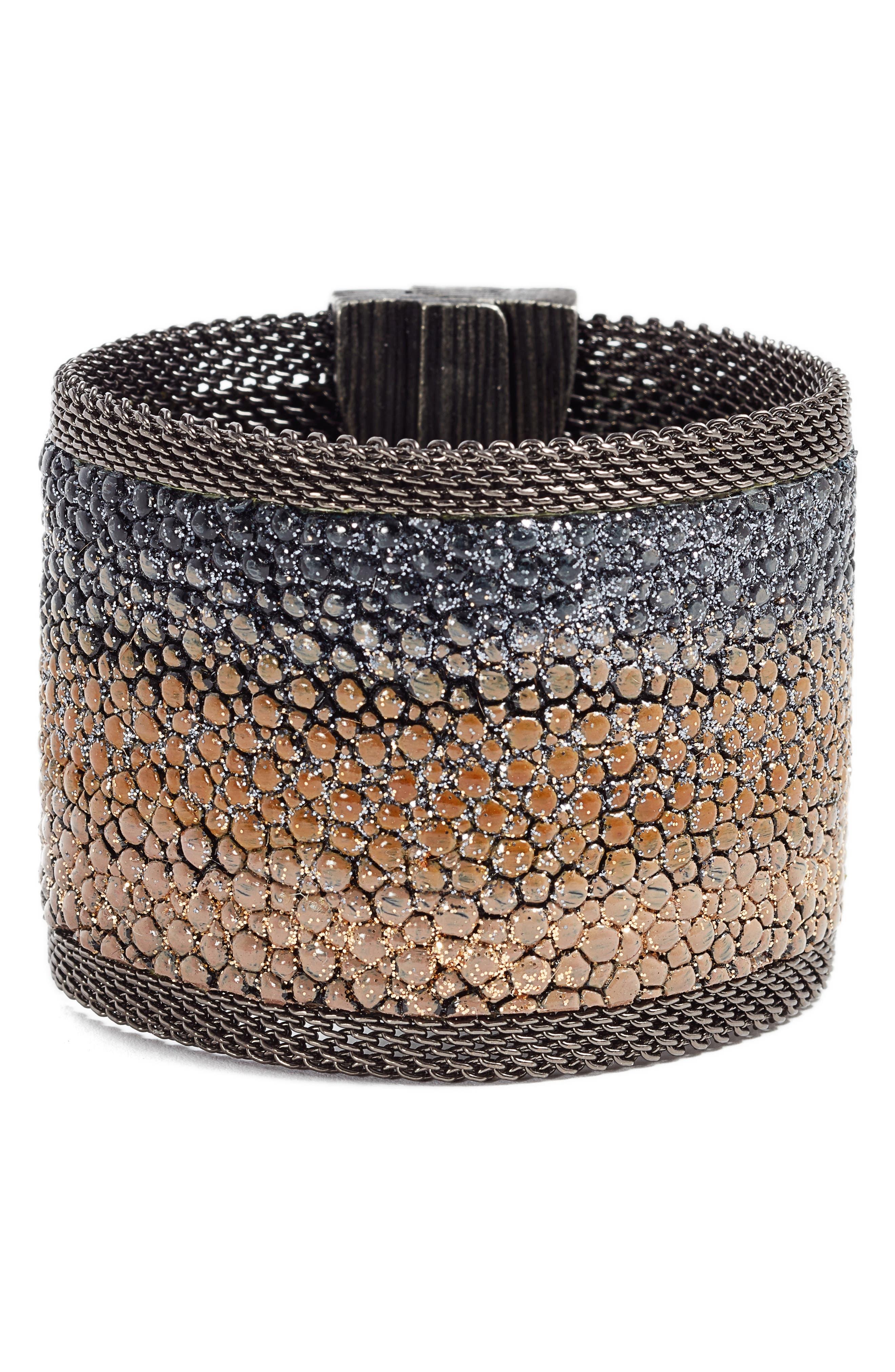 Shimmer Stingray Bracelet,                         Main,                         color, Black/ Beige/ Gold/ Gun Metal