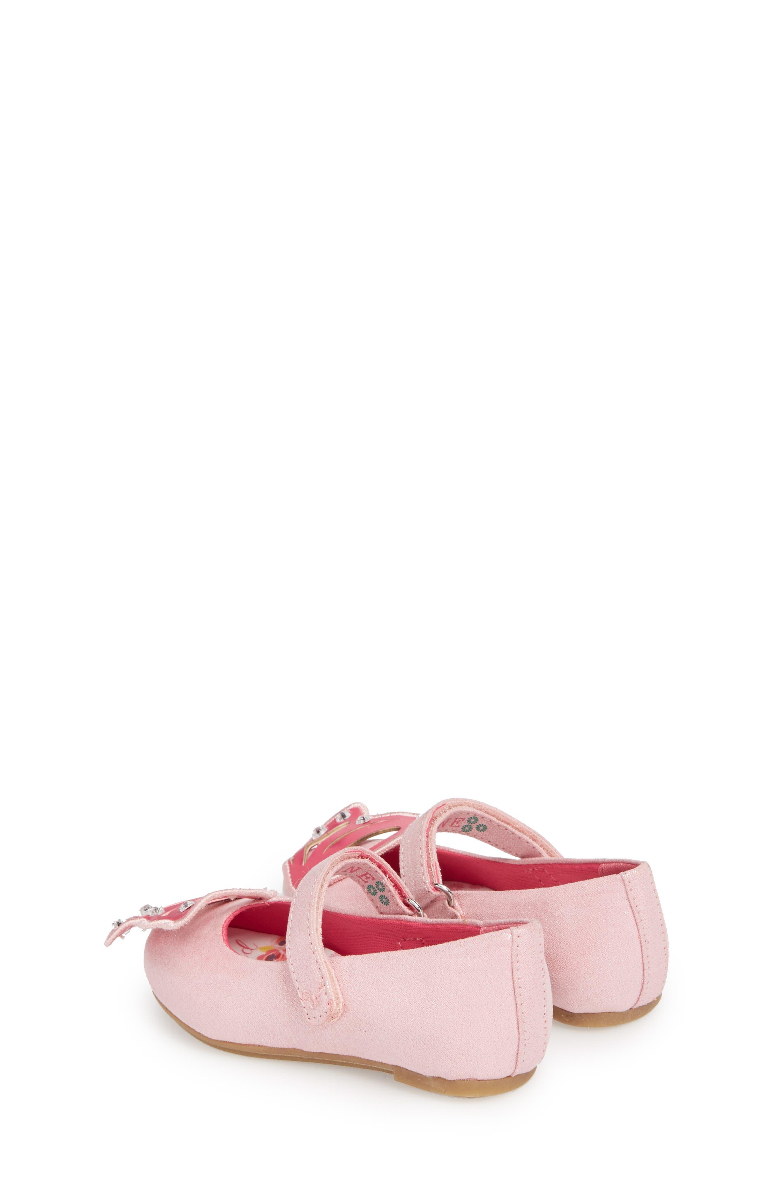 Flutter Wings Embellished Ballet Flat,                             Alternate thumbnail 2, color,                             Light Pink
