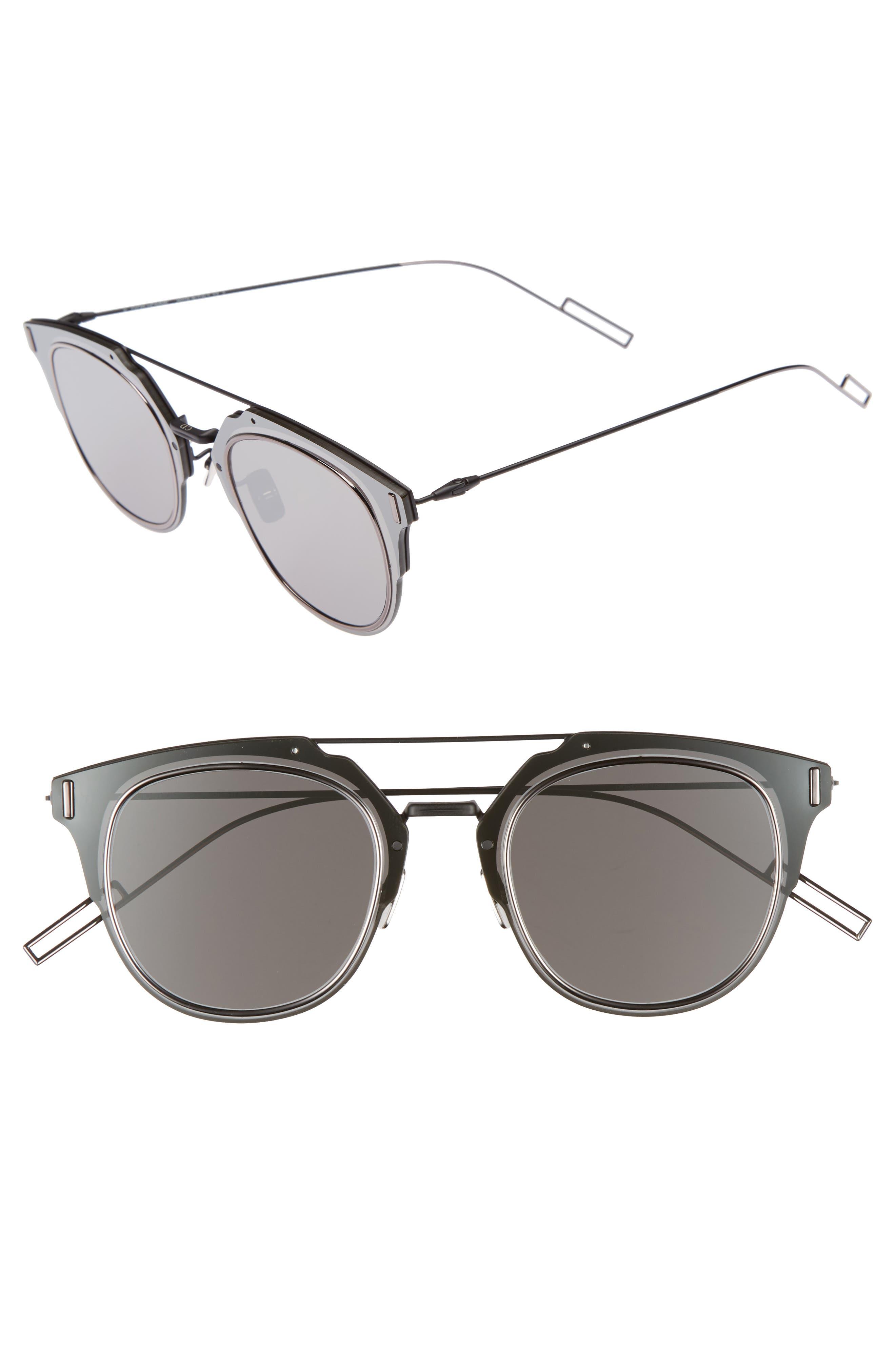 DIOR HOMME 'Composit 1.0S' 62Mm Metal Shield Sunglasses - Oxford Black