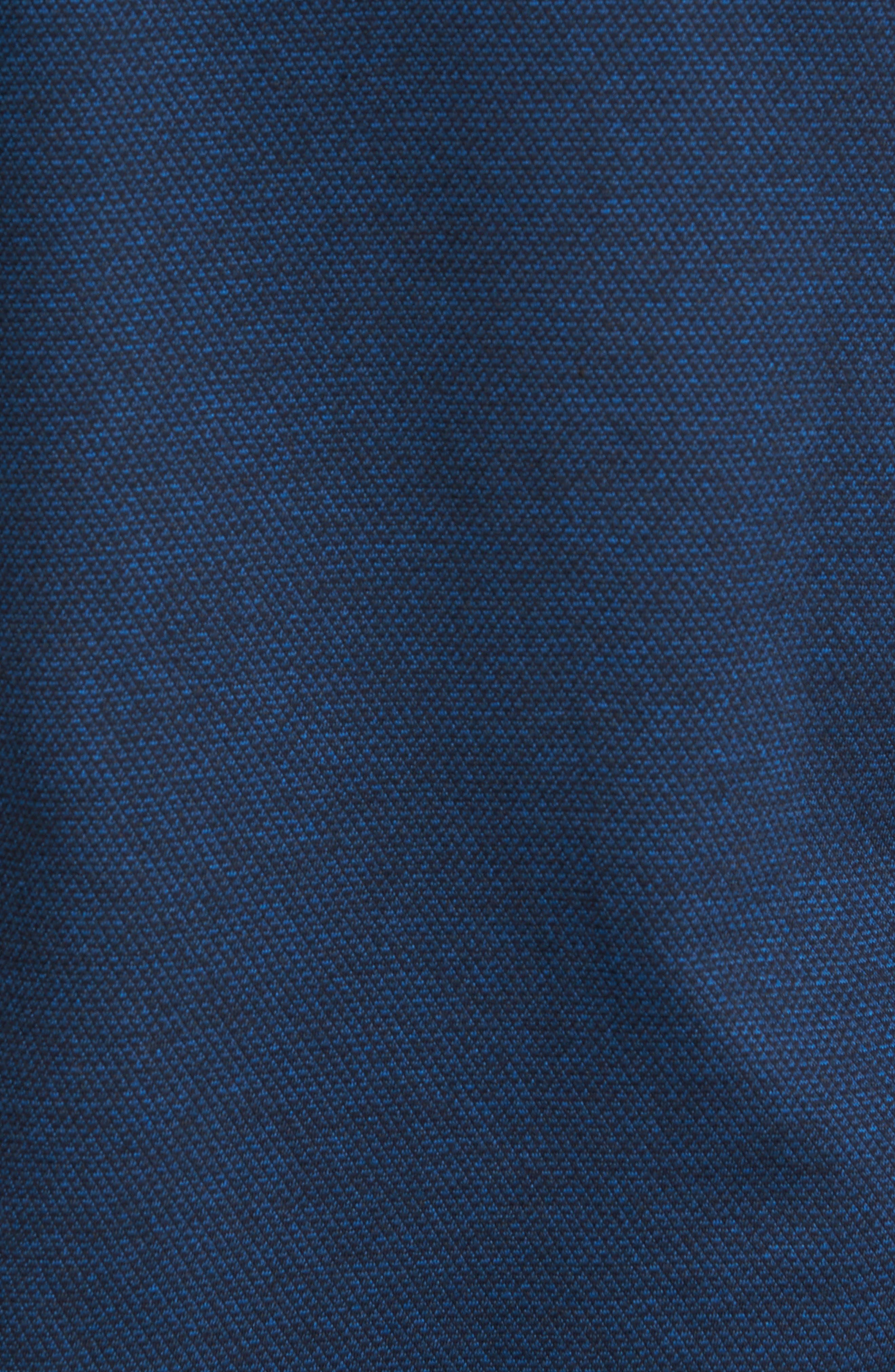 Slim Fit Diamond Jacquard Knit Sport Shirt,                             Alternate thumbnail 5, color,                             Navy