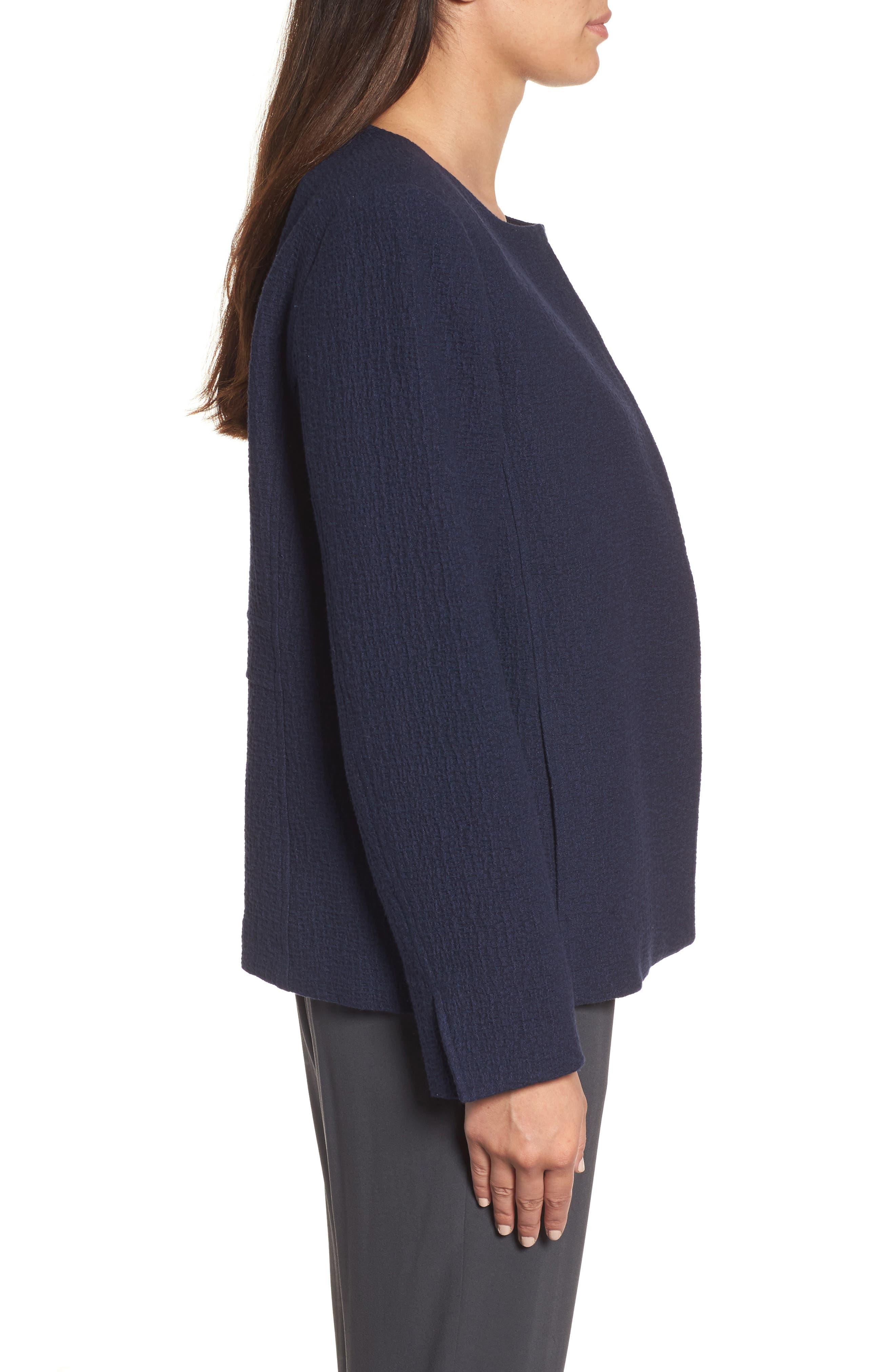 Alternate Image 3  - Eileen Fisher Open Front Round Neck Jacket