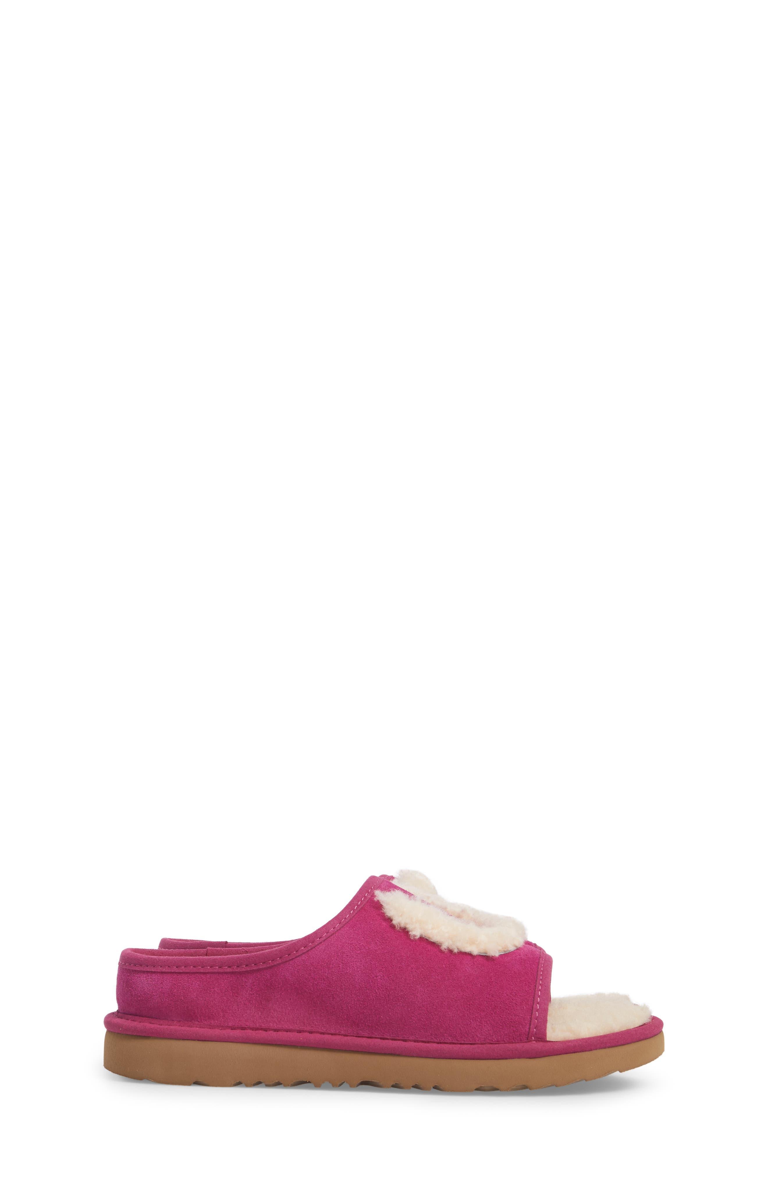 Logo Slide Sandal,                             Alternate thumbnail 3, color,                             Magenta Rose