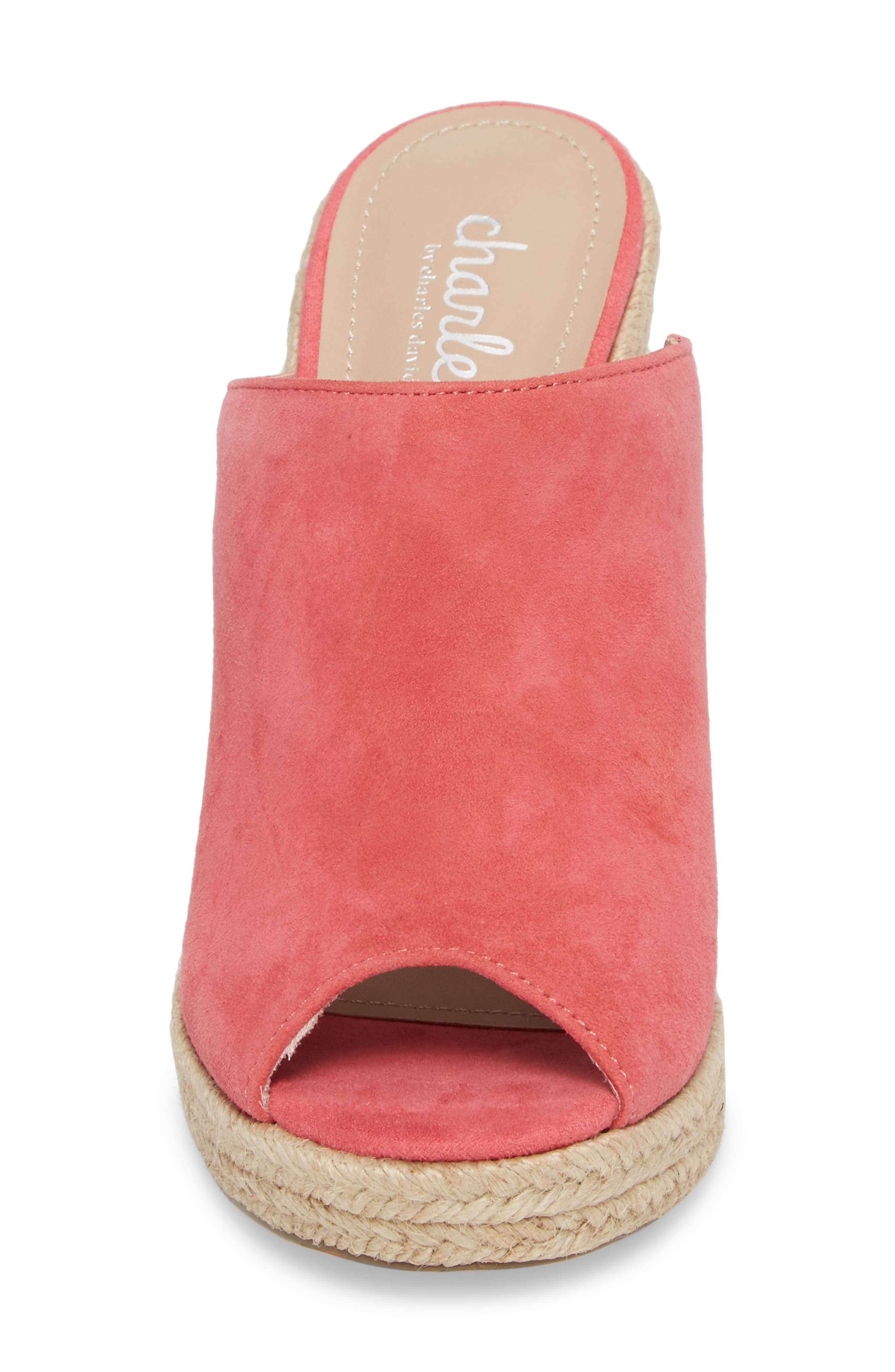 Balen Wedge,                             Alternate thumbnail 4, color,                             Coral Suede