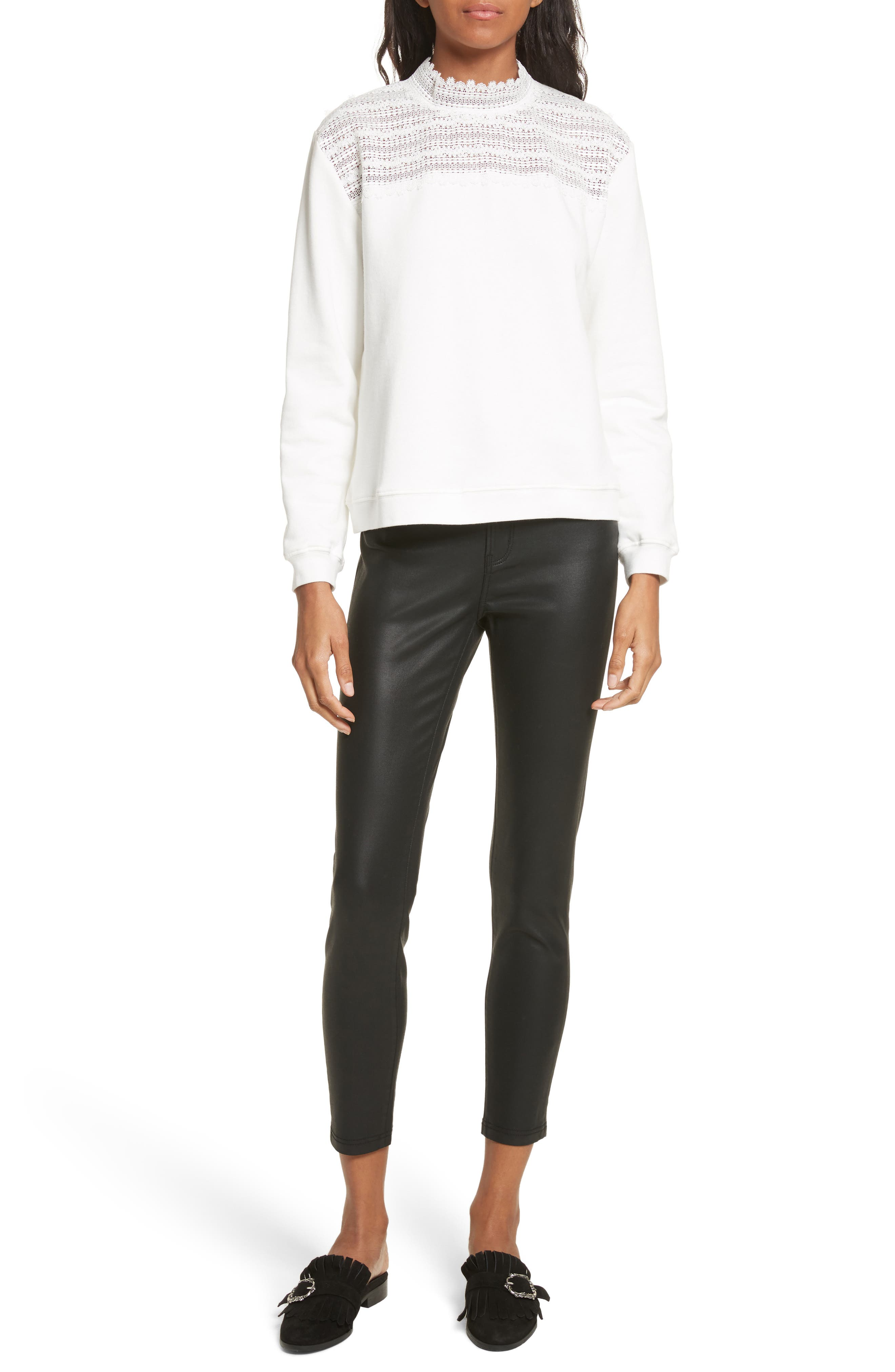 Alternate Image 8  - The Kooples Coated Stretch Ankle Skinny Jeans
