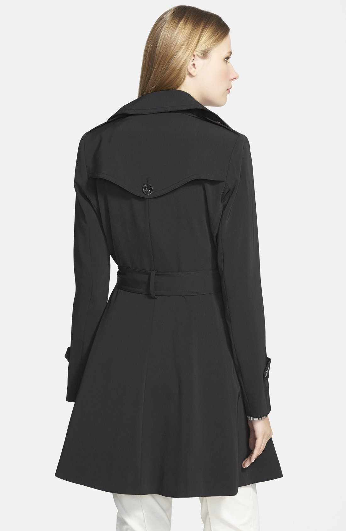 Alternate Image 2  - Trina Turk 'Juliette' Double Breasted Skirted Trench Coat