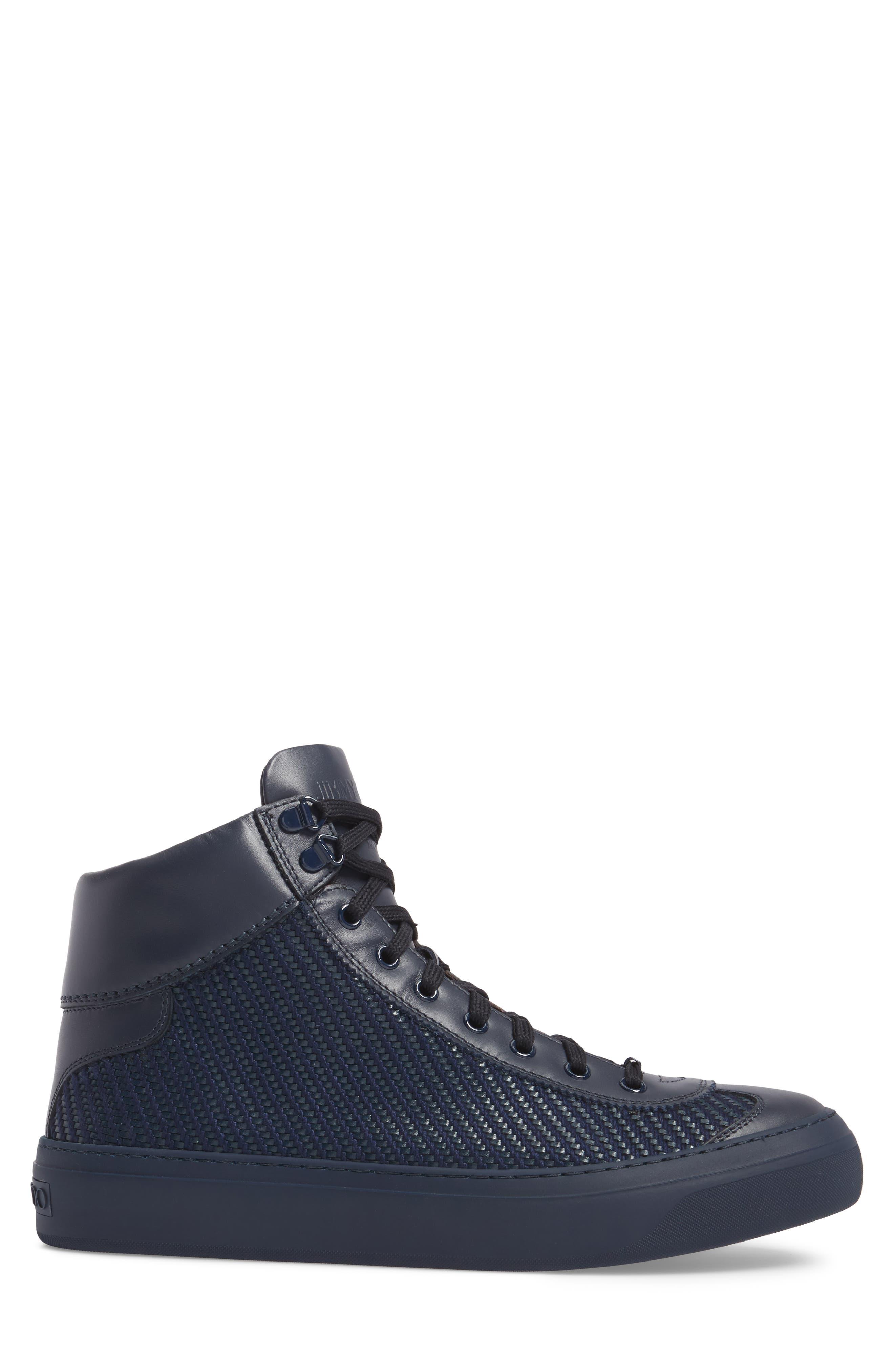Argyle Sneaker,                             Alternate thumbnail 3, color,                             Navy