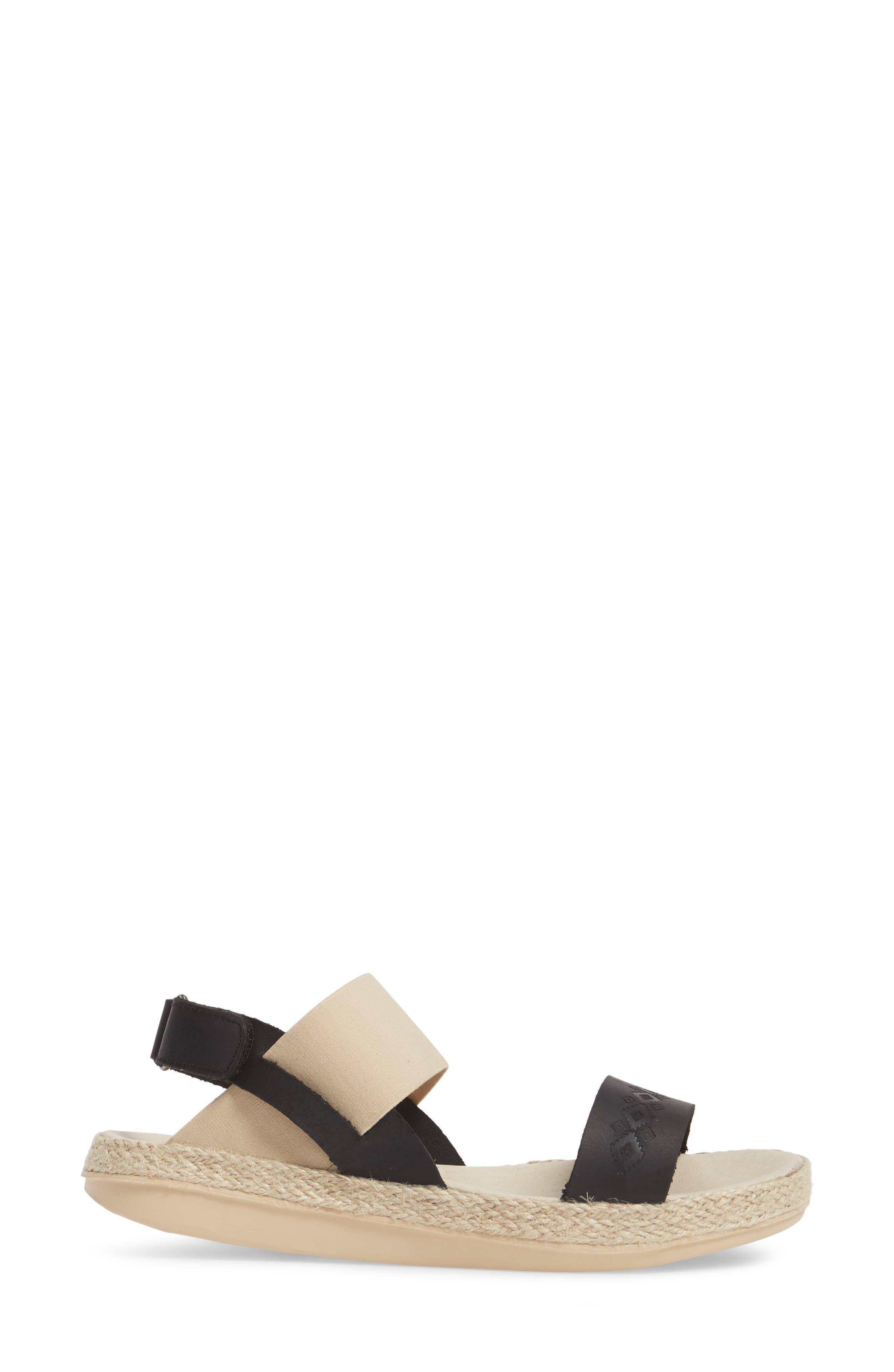 Tobermory Sandal,                             Alternate thumbnail 3, color,                             Black Leather