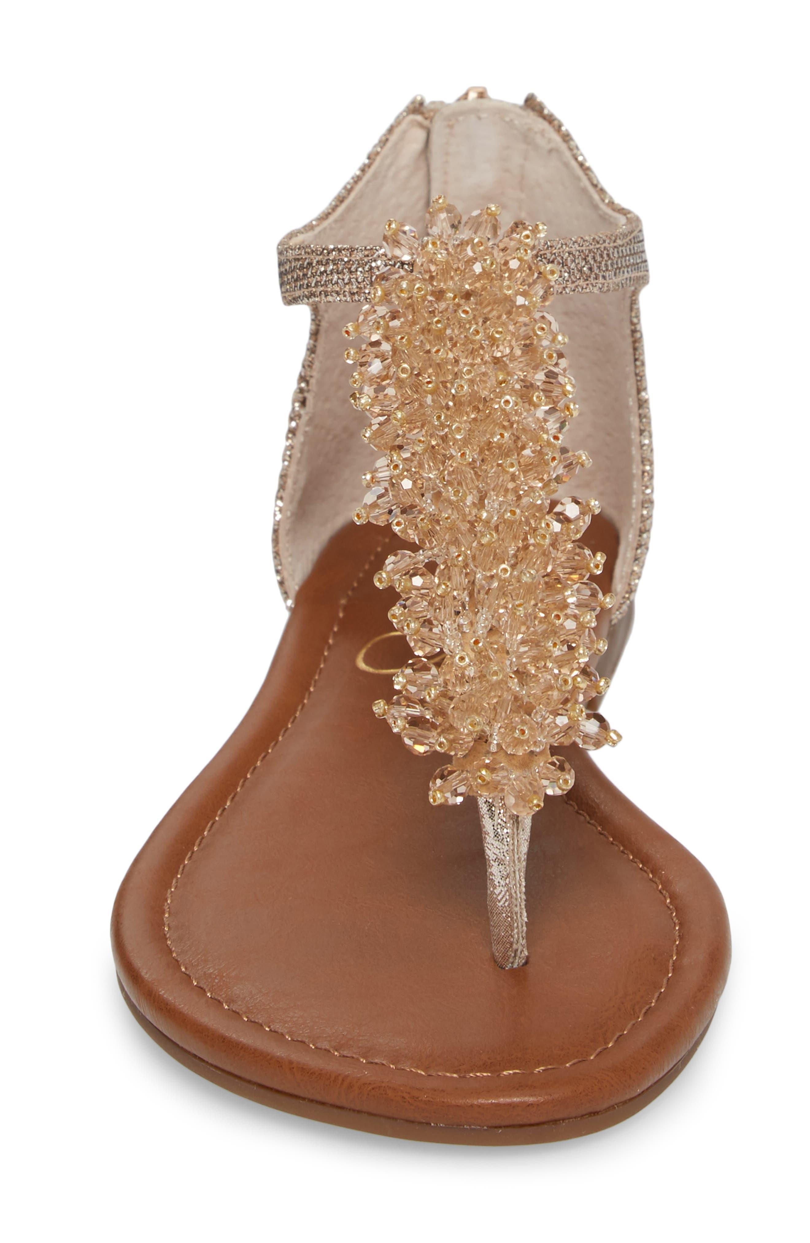 Kenton Crystal Embellished Sandal,                             Alternate thumbnail 4, color,                             Gold