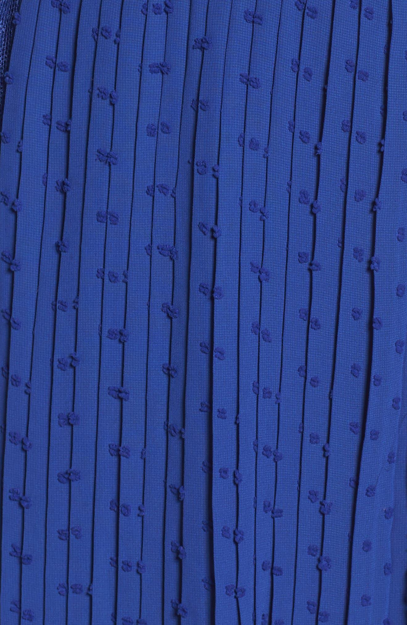 Babette Lace Inset Party Dress,                             Alternate thumbnail 5, color,                             Navy
