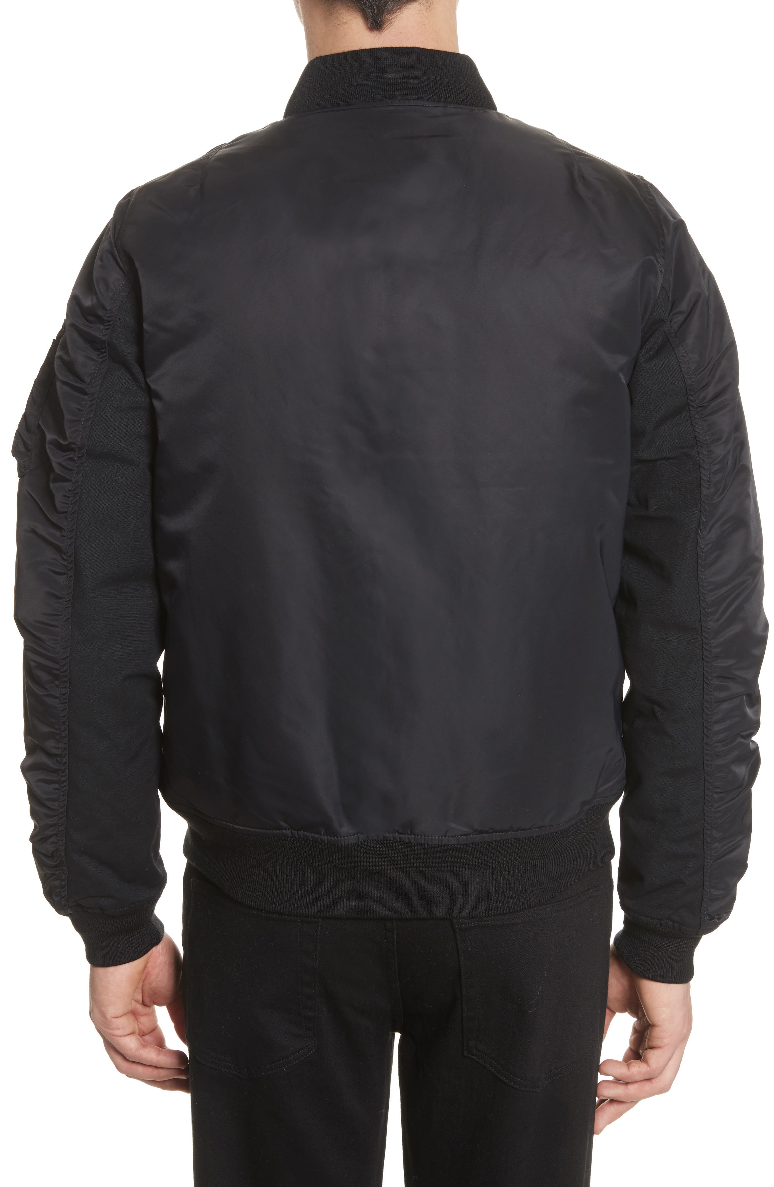 Ashton Bomber Jacket,                             Alternate thumbnail 2, color,                             Black/ Black