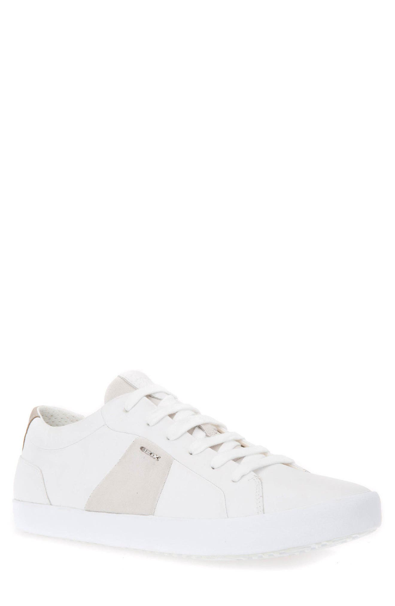 Smart 78 Sneaker,                             Main thumbnail 1, color,                             White/ Papyrus Leather