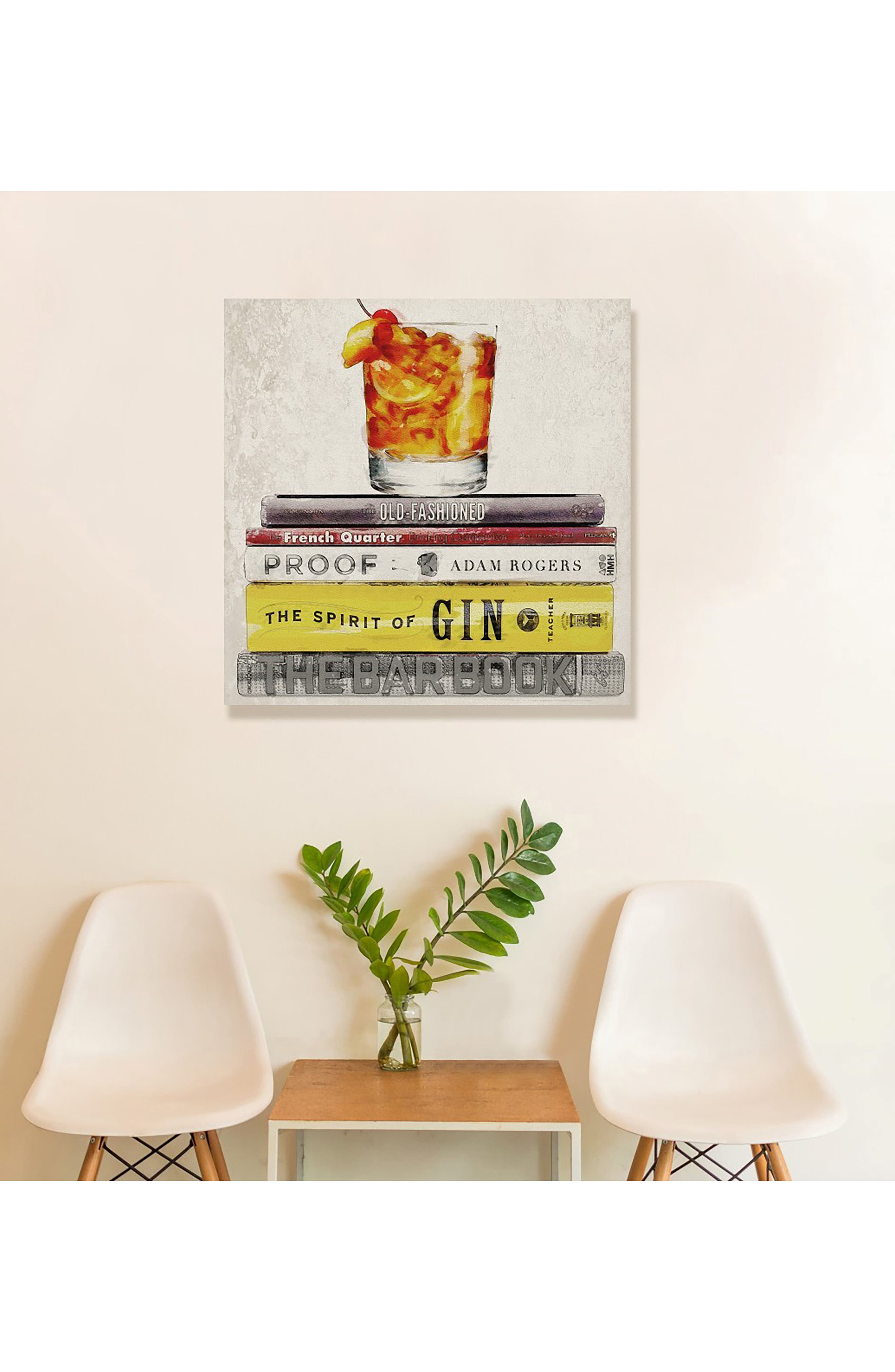 Alternate Image 2  - Oliver Gal Bar Books Canvas Wall Art
