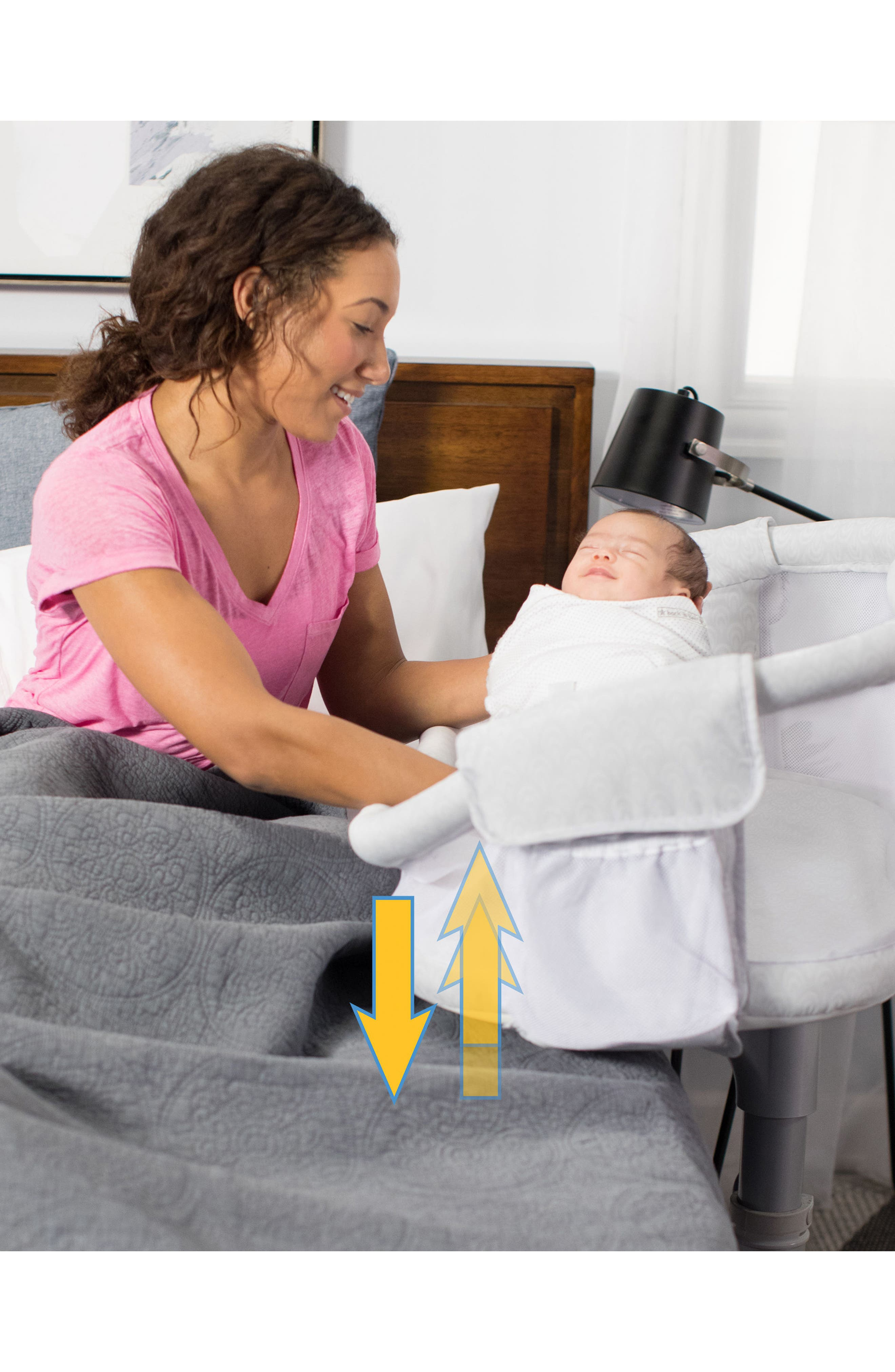 Halo Innovations Bassinest<sup>™</sup> Premiere Series Bedside Swivel Sleeper,                             Alternate thumbnail 8, color,                             River Stone