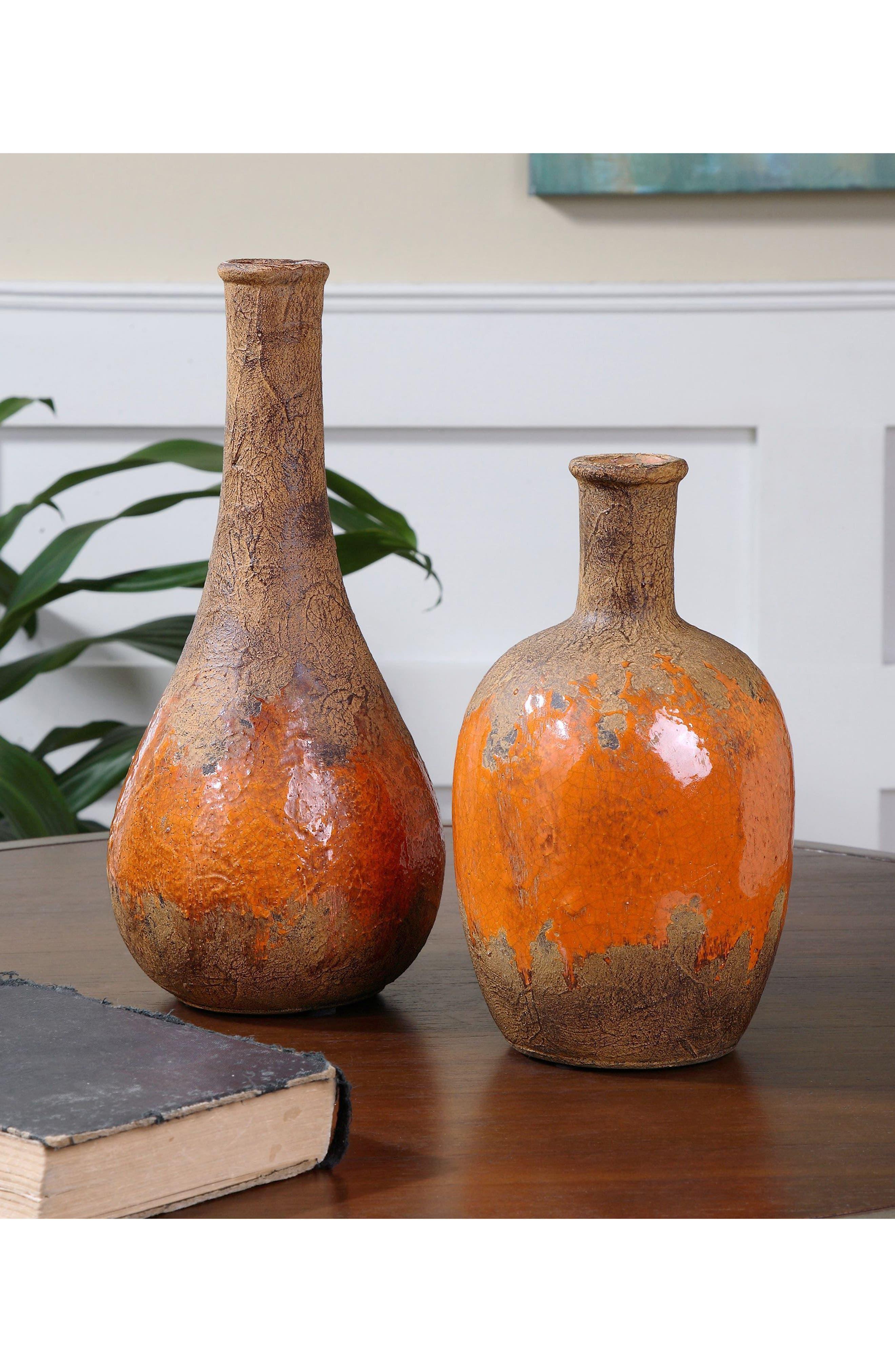 Kadam Set of 2 Vases,                             Alternate thumbnail 2, color,                             Orange
