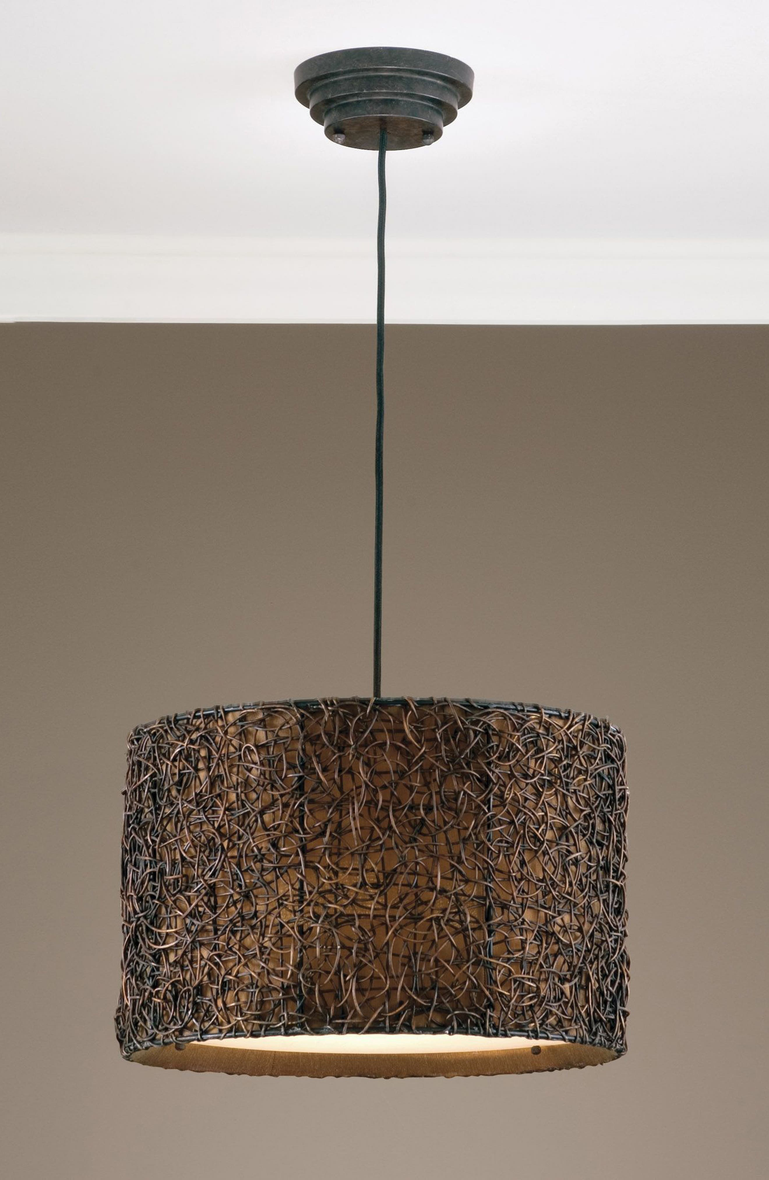 Alternate Image 2  - Uttermost Knotted Rattan Pendant Lamp