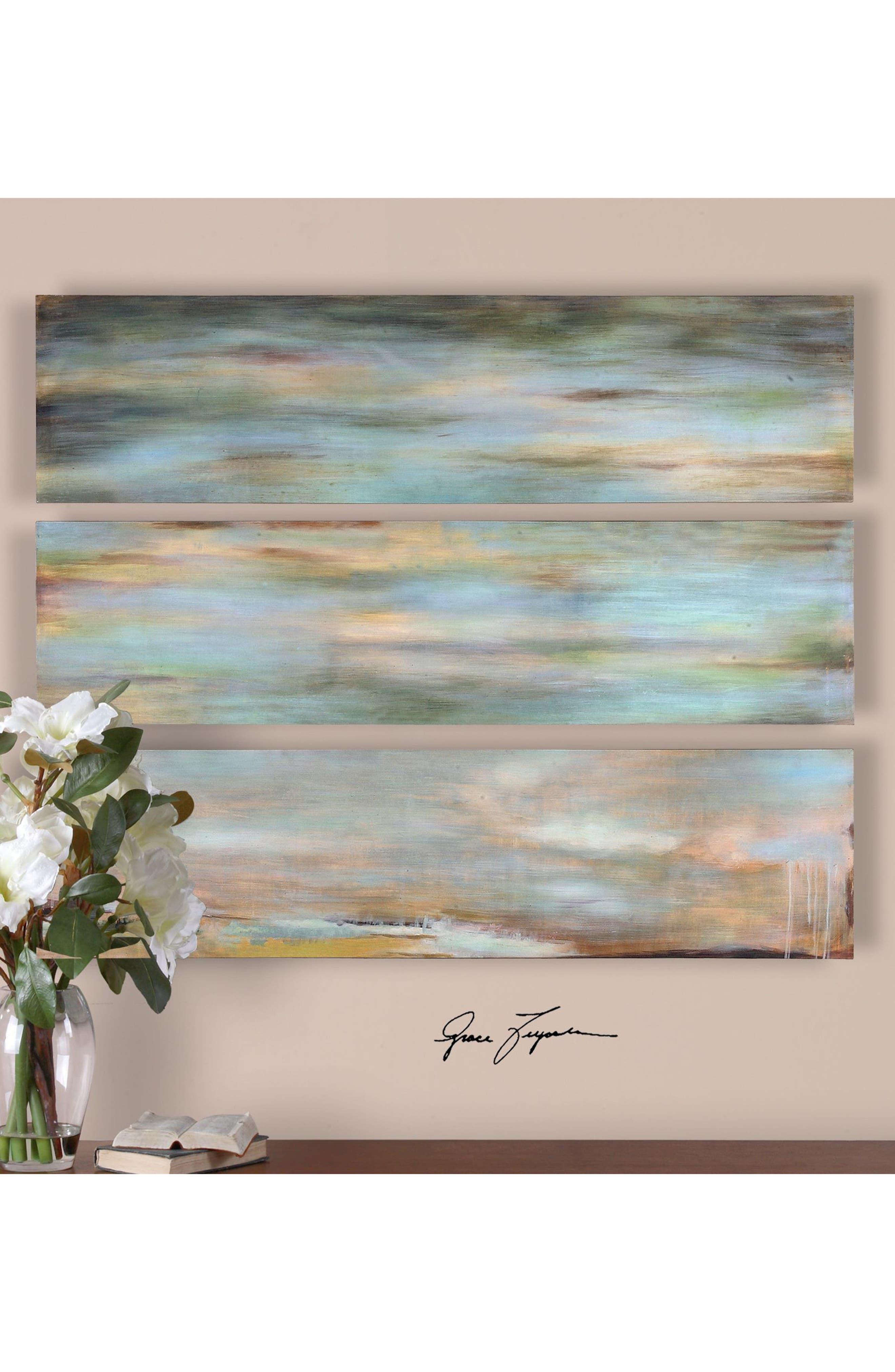 Alternate Image 2  - Uttermost Horizon View 3-Panel Wall Art