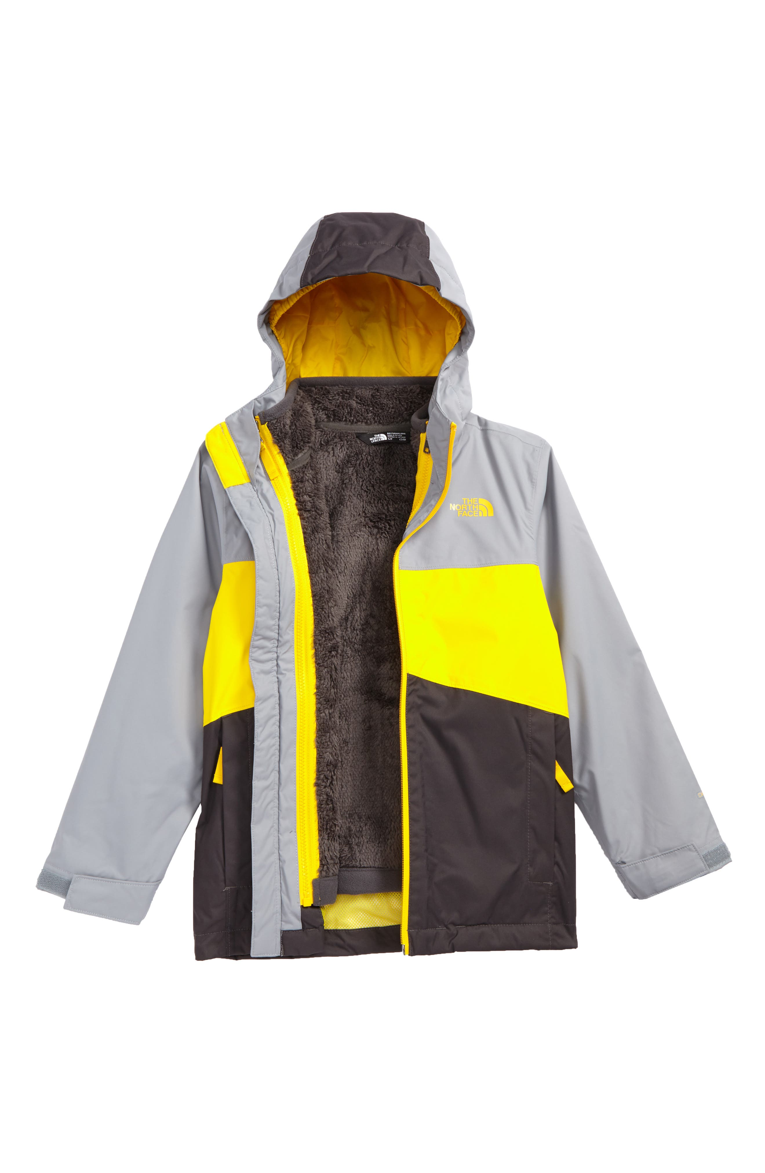 Chimborazo Triclimate<sup>®</sup> 3-in-1 Jacket,                         Main,                         color, Canary Yellow