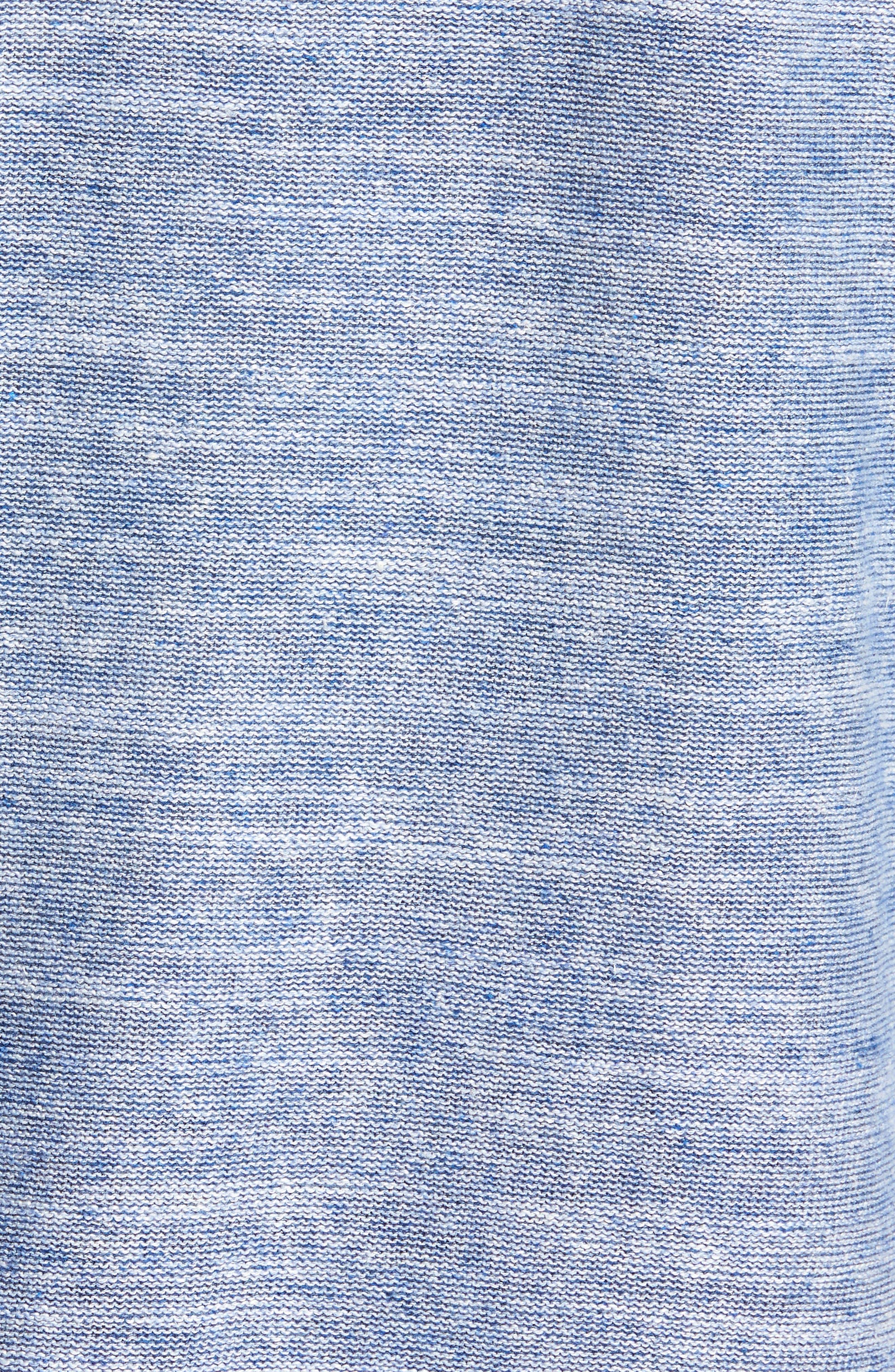 Sandy Bay Half-Zip Pullover,                             Alternate thumbnail 5, color,                             Galaxy Blue Heather