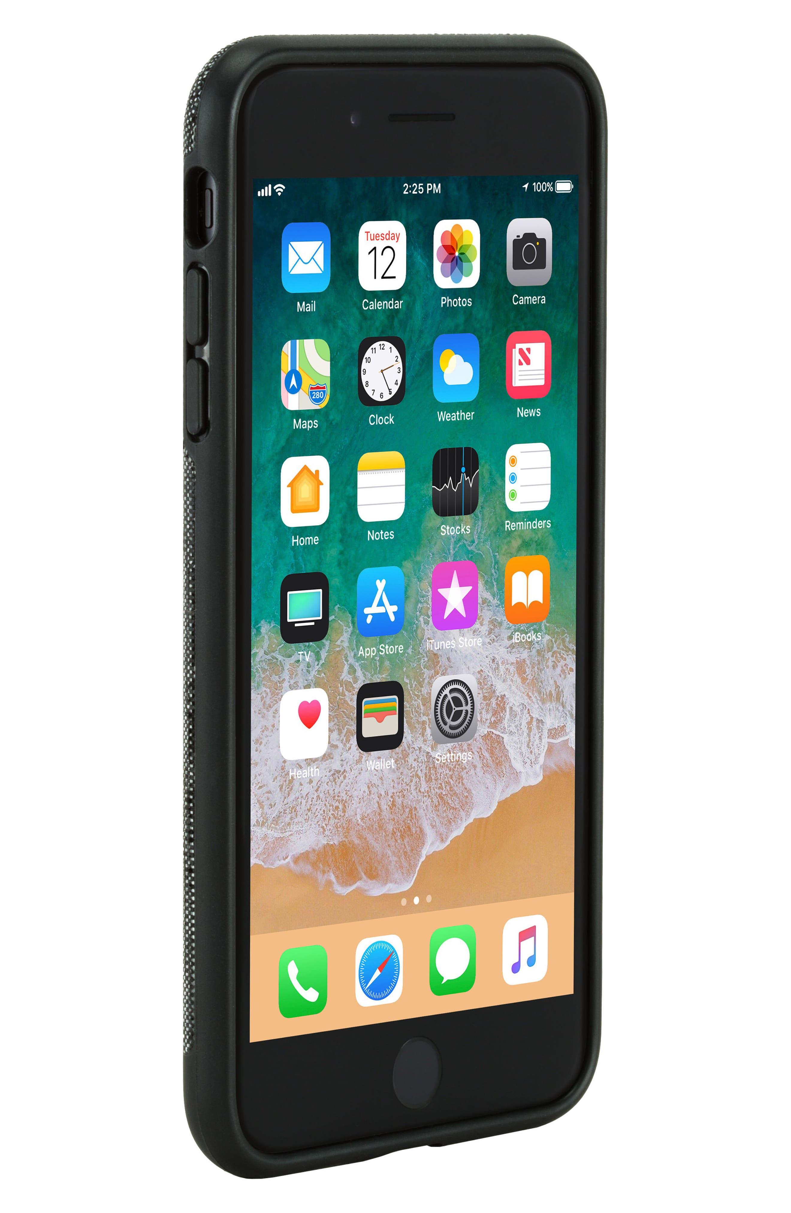 iPhone 7 Plus/8 Plus Case,                             Alternate thumbnail 6, color,                             Black Diamond Ripstop
